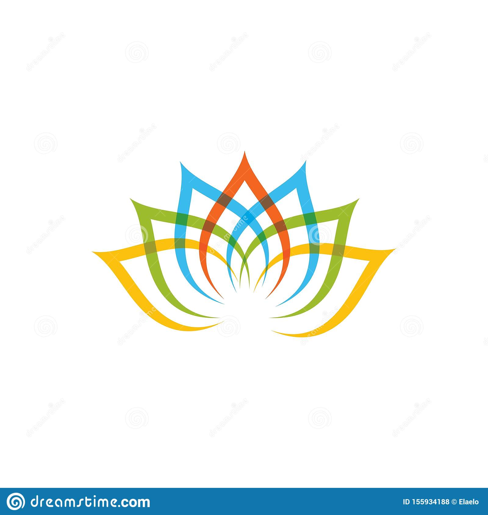 Decoration Salon Zen Photo beauty flower vector icon stock vector. illustration of