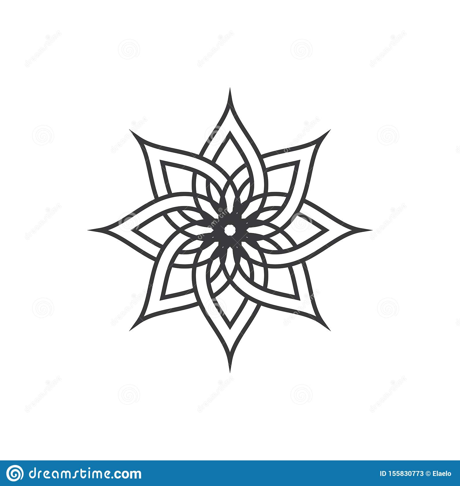 Decoration Salon Zen Photo beauty flower vector icon design stock vector - illustration