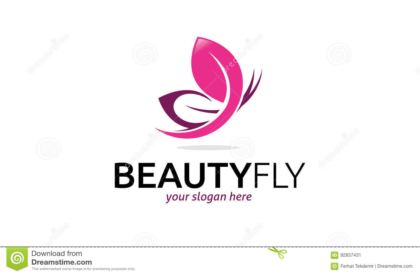 Beauty Fly Logo Stock Vector Illustration Of Luxury 92837431