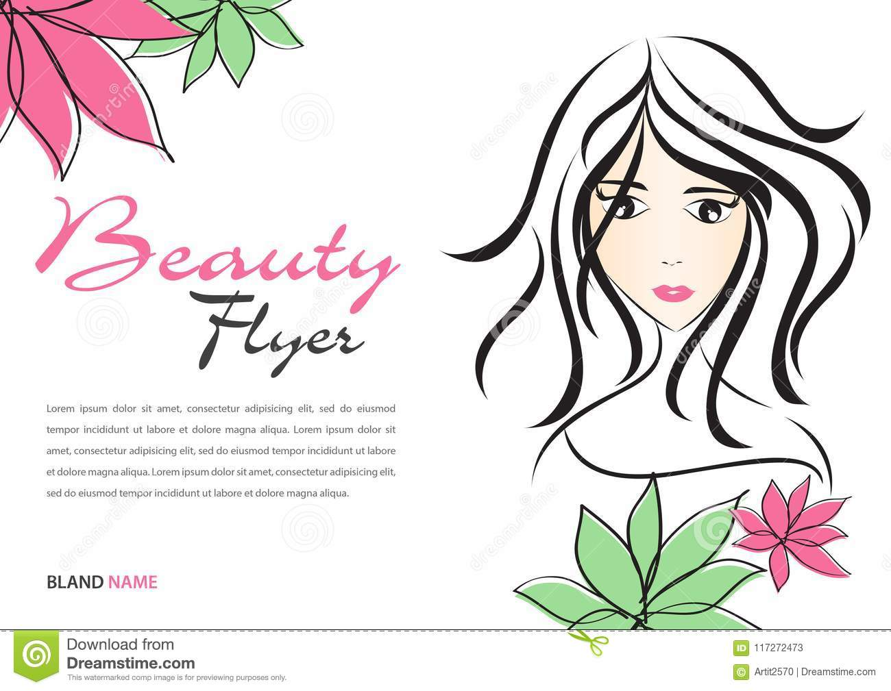 beauty flyer template magazine ads layout cosmetics banner poster