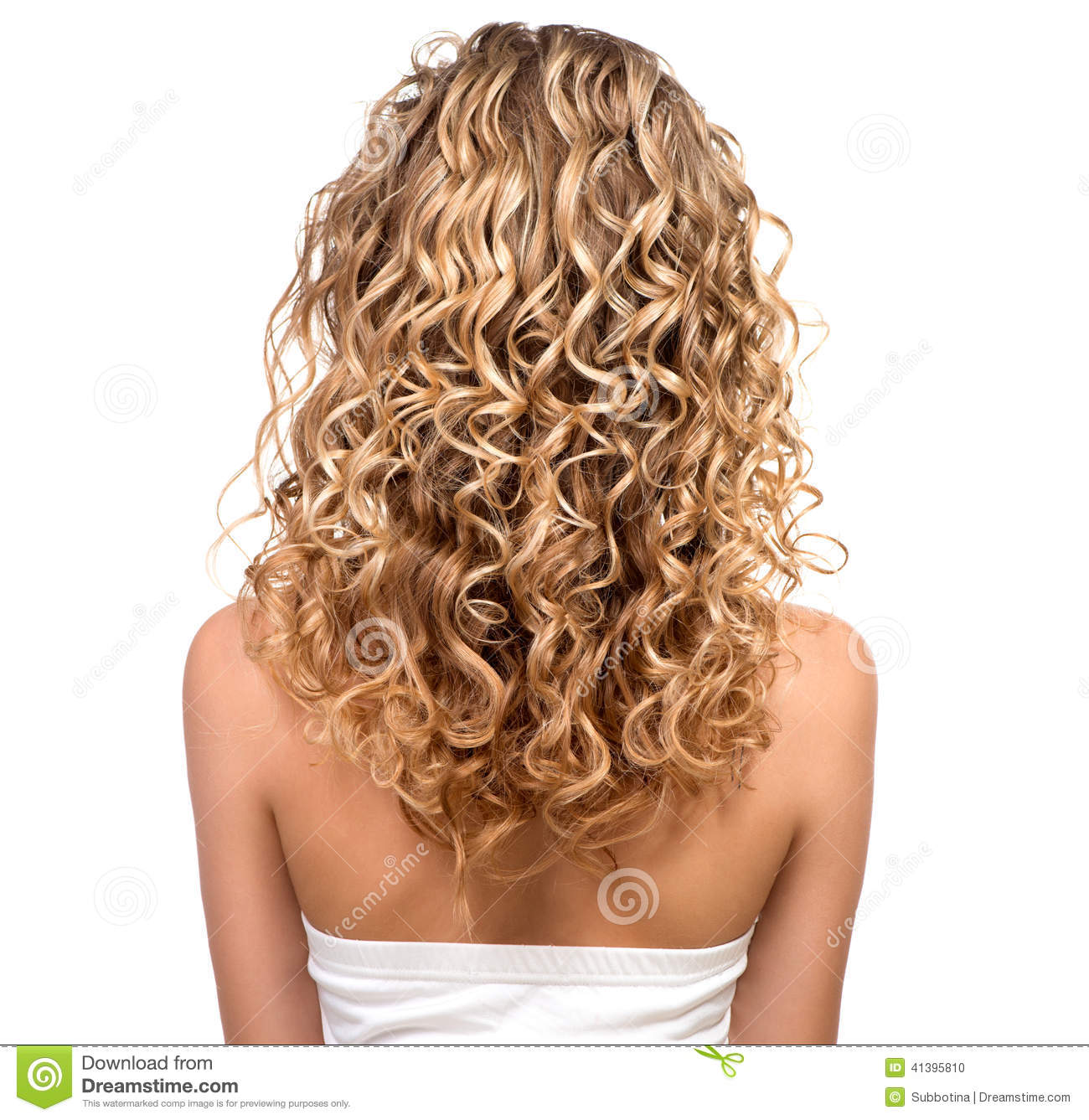 Beauty Girl With Blonde Permed Hair Stock Photo Image Of