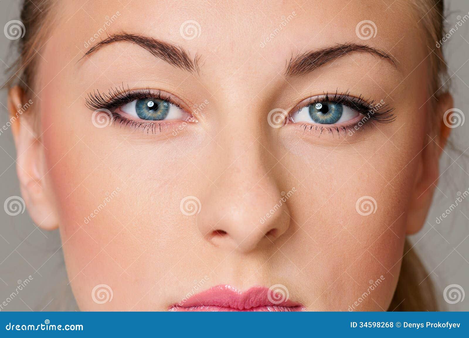 stunning eyes pink blue-#24