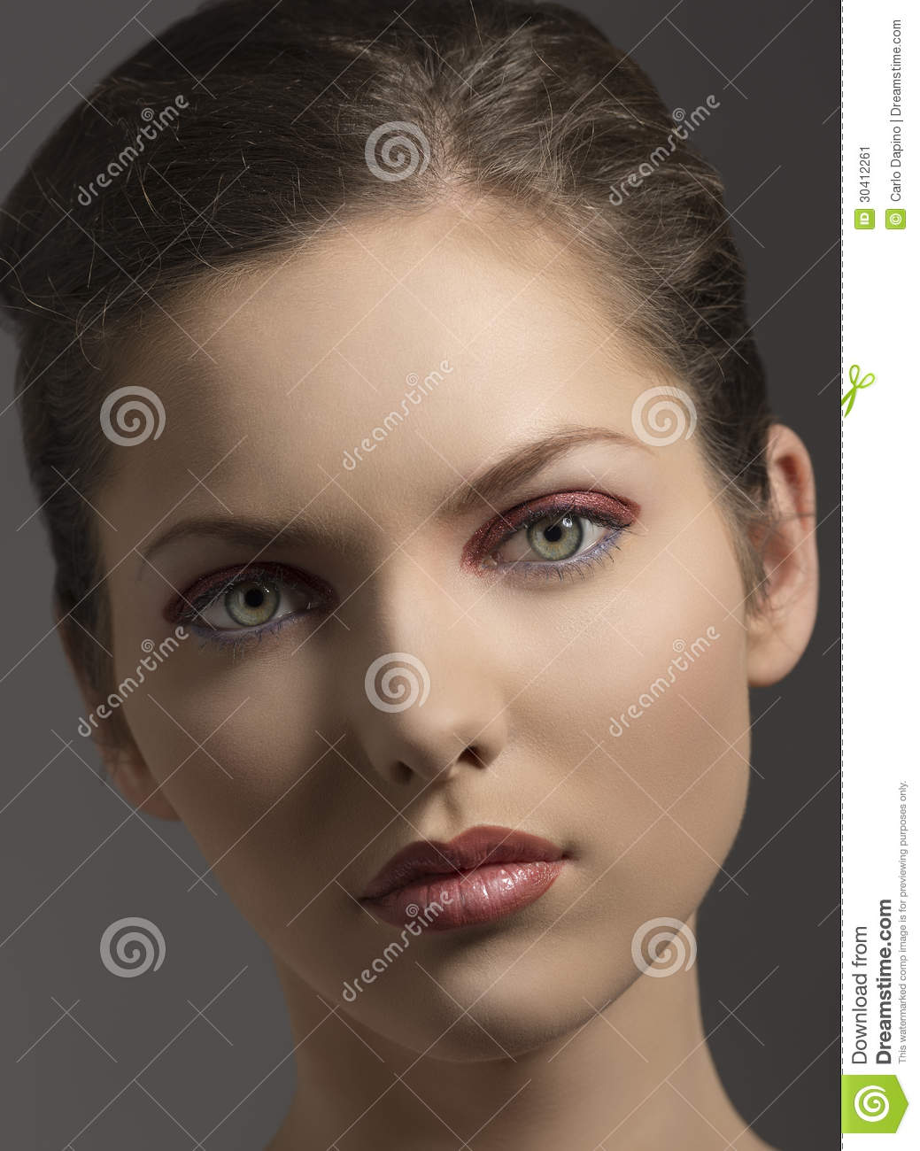 Beauty Girl In Close Up Portrait Stock Image Image 30412261