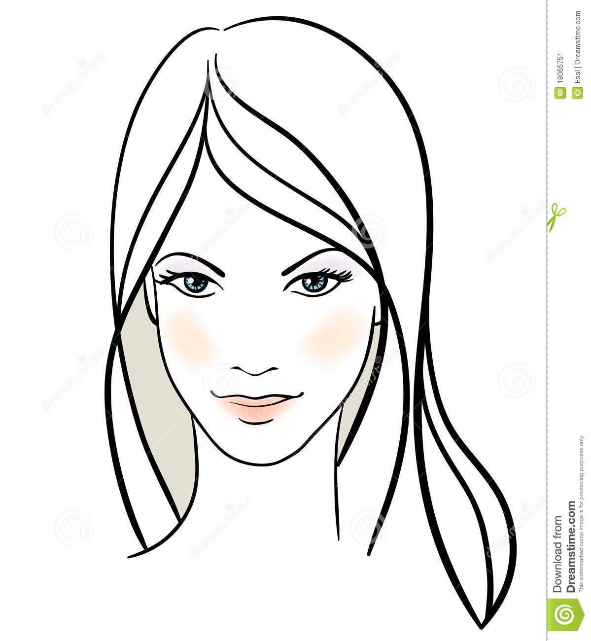 pretty girl face coloring pages - photo#21