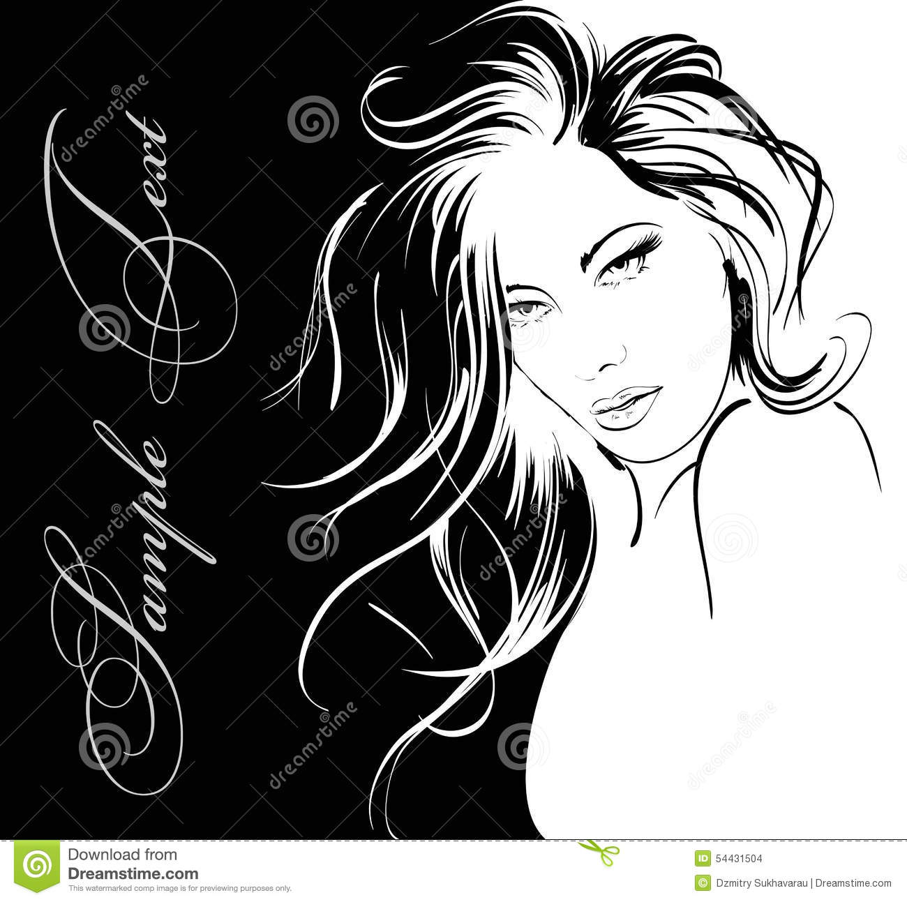 Beauty Girl Face Stock Illustration Image Of Hairstyle