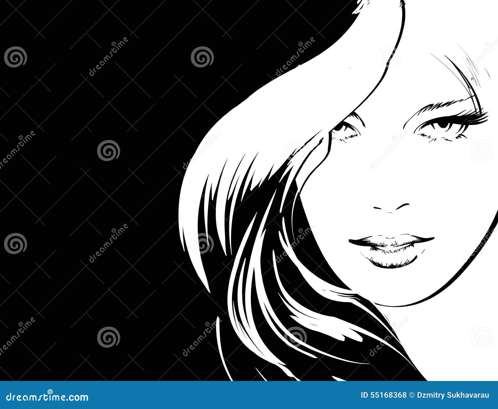 Beauty Girl Face Stock Illustration Image Of Eyes Decorative