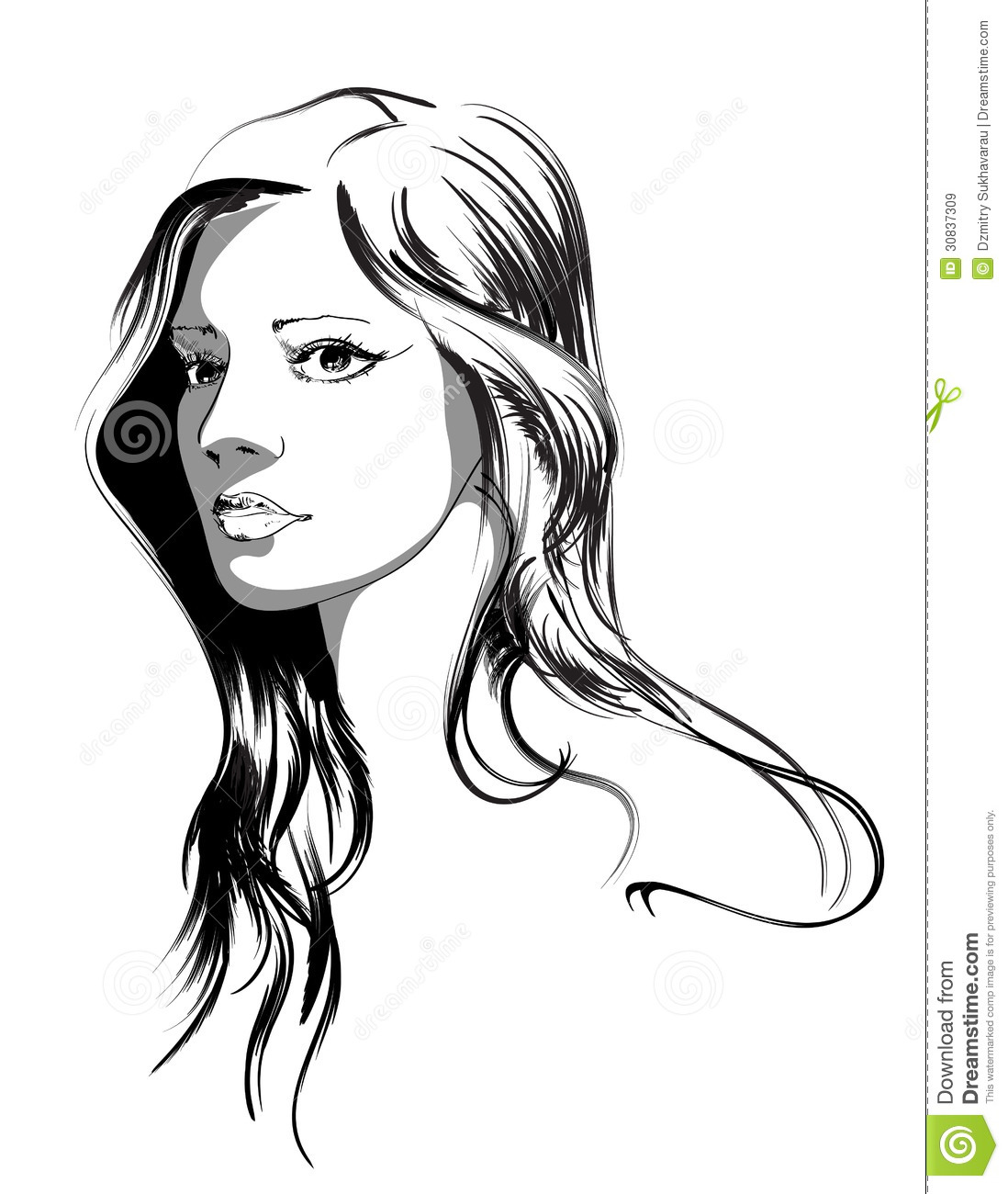 Beauty Girl Face Stock Vector Image Of Icon Elegant