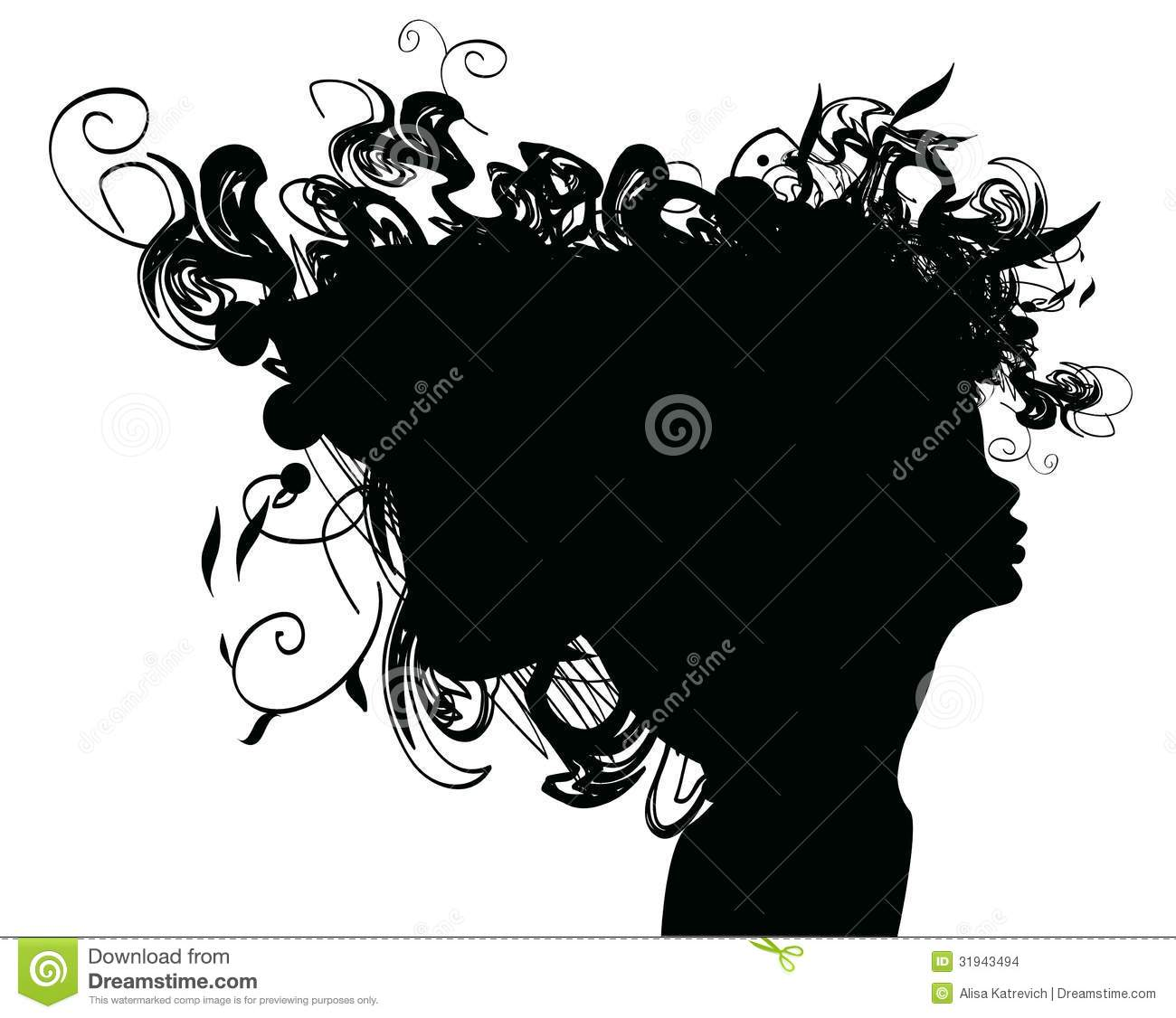 Beauty Girl Silhouette With Rose Stock Images - Image: 31943494