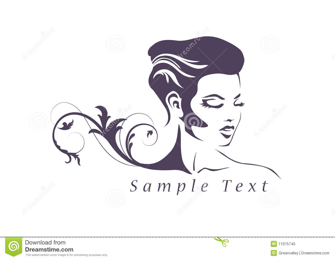 Beauty Logo Stock Photo - Image: 11075740