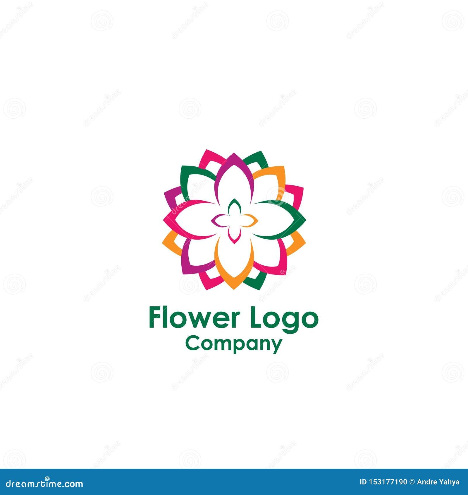 Beauty Logo Template , Lotus Design Vector, Icon Stock