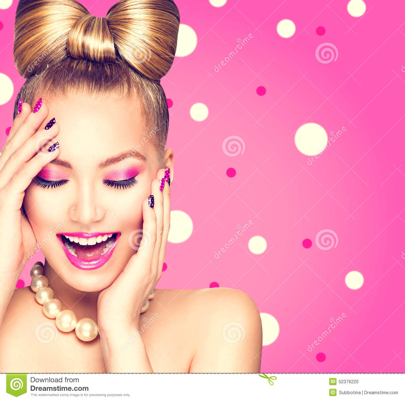 beauty-model-girl-bow-hairstyle-over-polka-dots-background-52376220.jpg