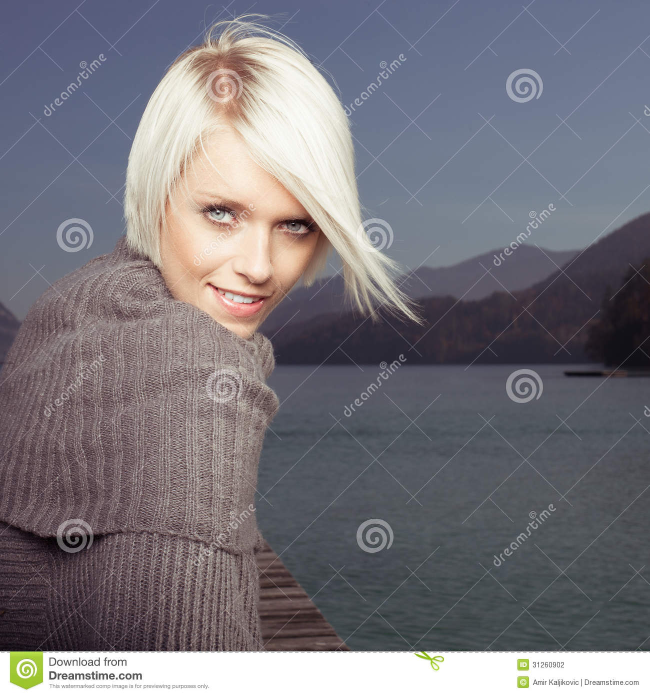 Beauty Portrait Of Beautiful Blond Woman Stock Photography ...