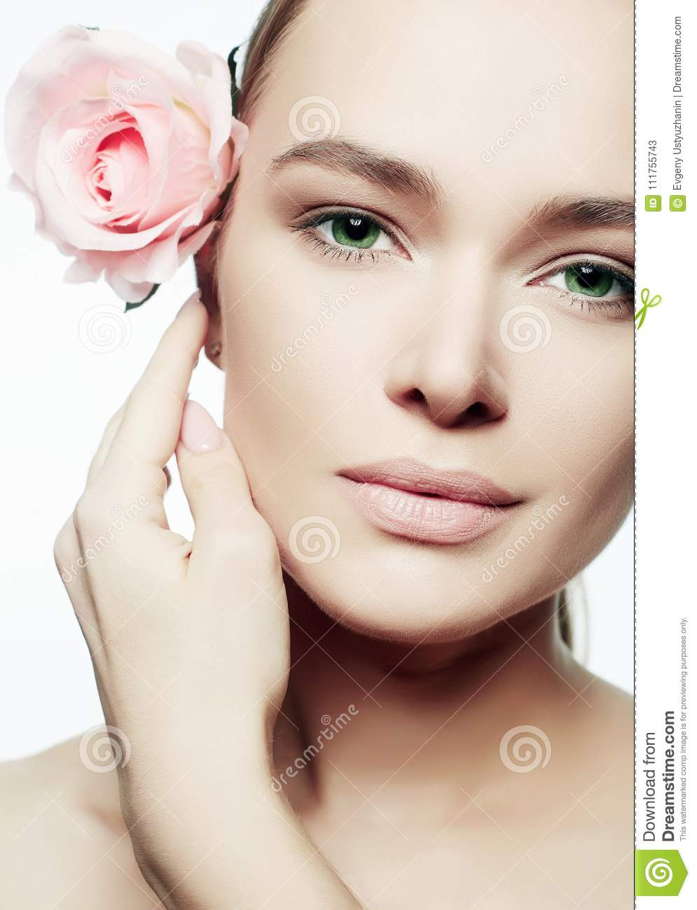 Beauty portrait of girl with rose flower stock image image of download beauty portrait of girl with rose flower stock image image of cheerful foundation izmirmasajfo