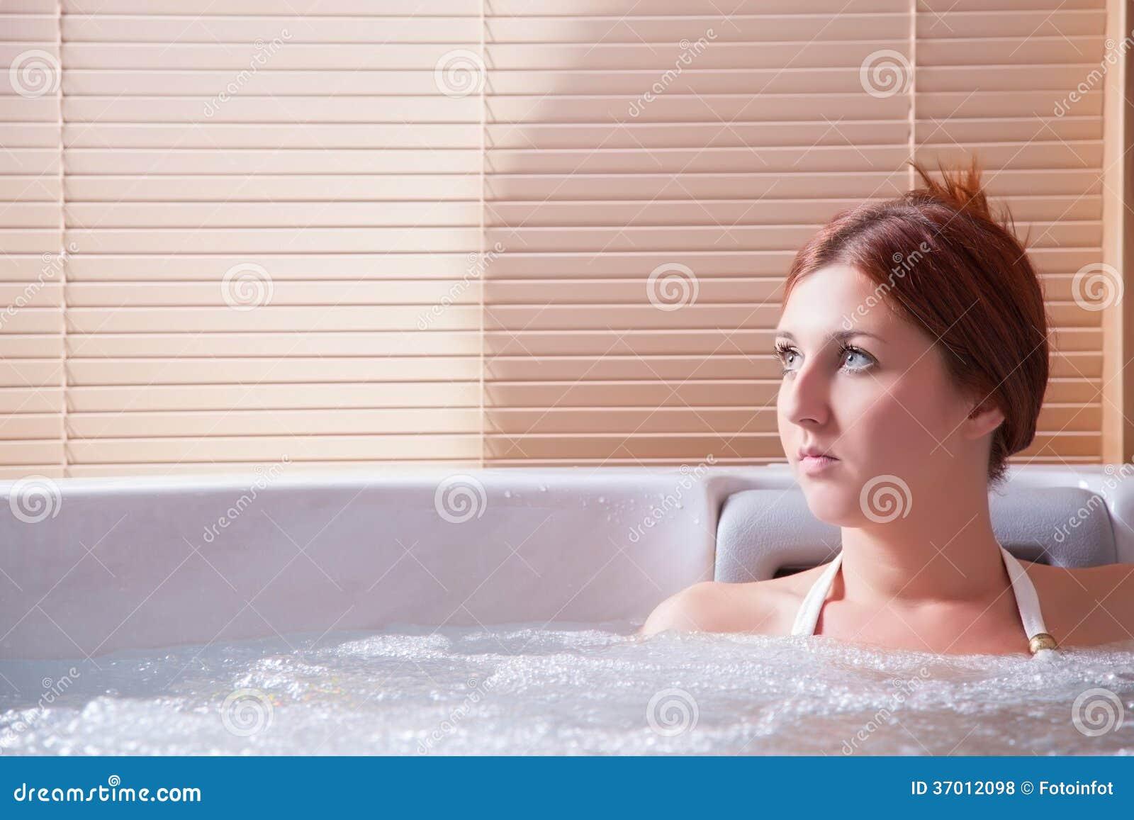 Beauty portrait in water