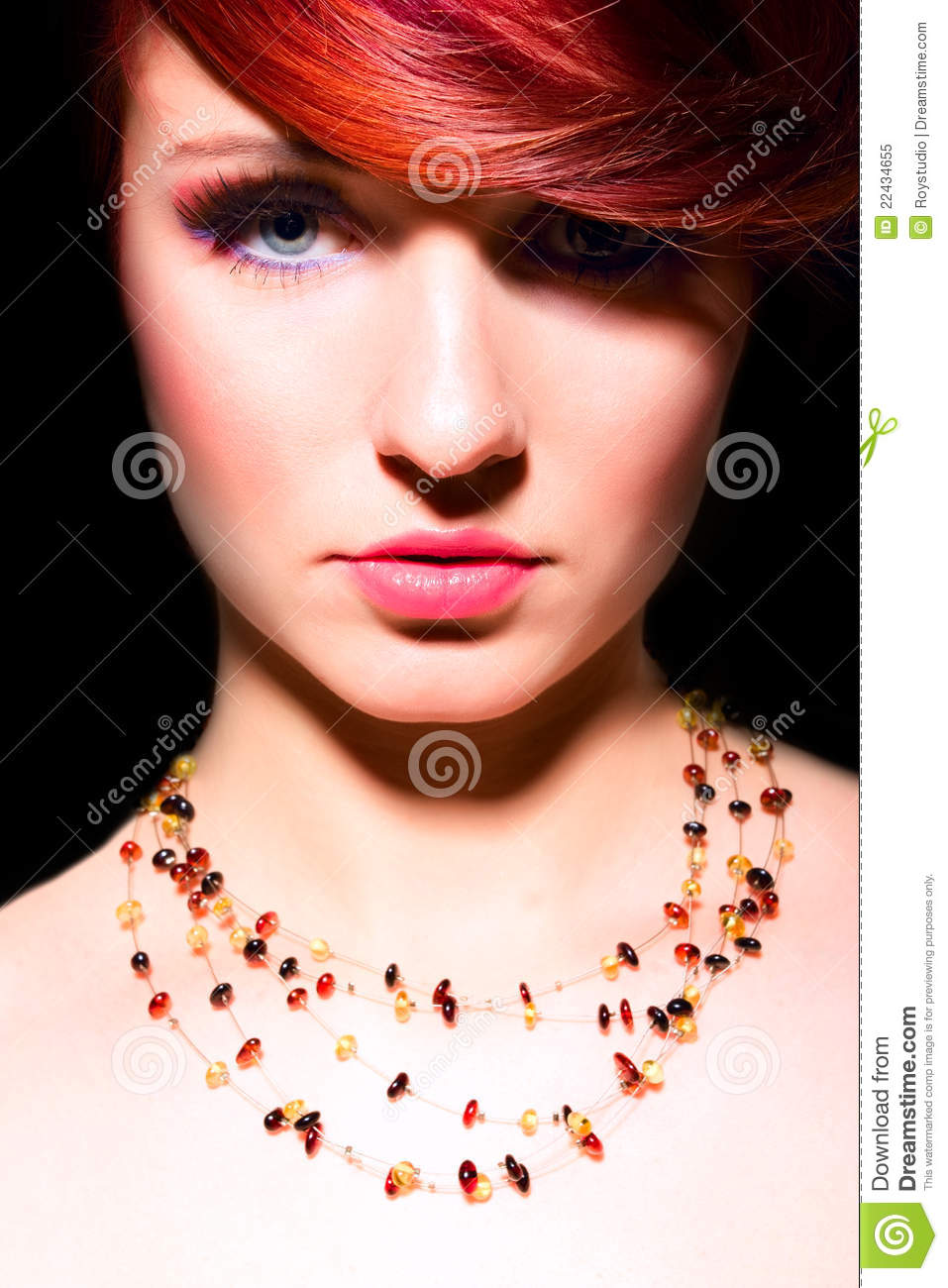 Free Beauty Magazines By Mail: Beauty Red Hair Woman Glamour Portrait Makeup Stock Image