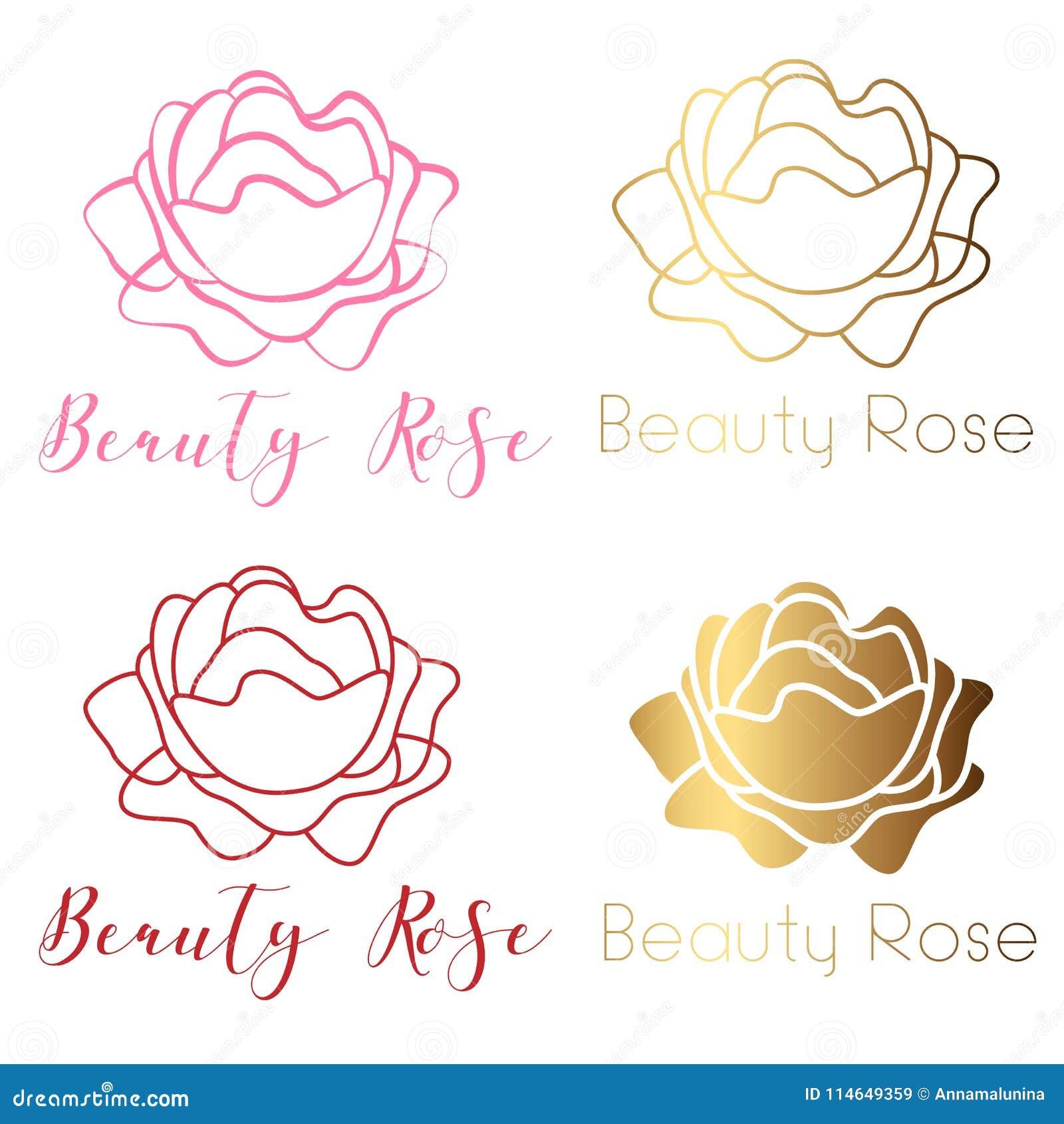 Beauty Rose Logo Sign Symbol For Beauty Salon Spa Salon Beauty