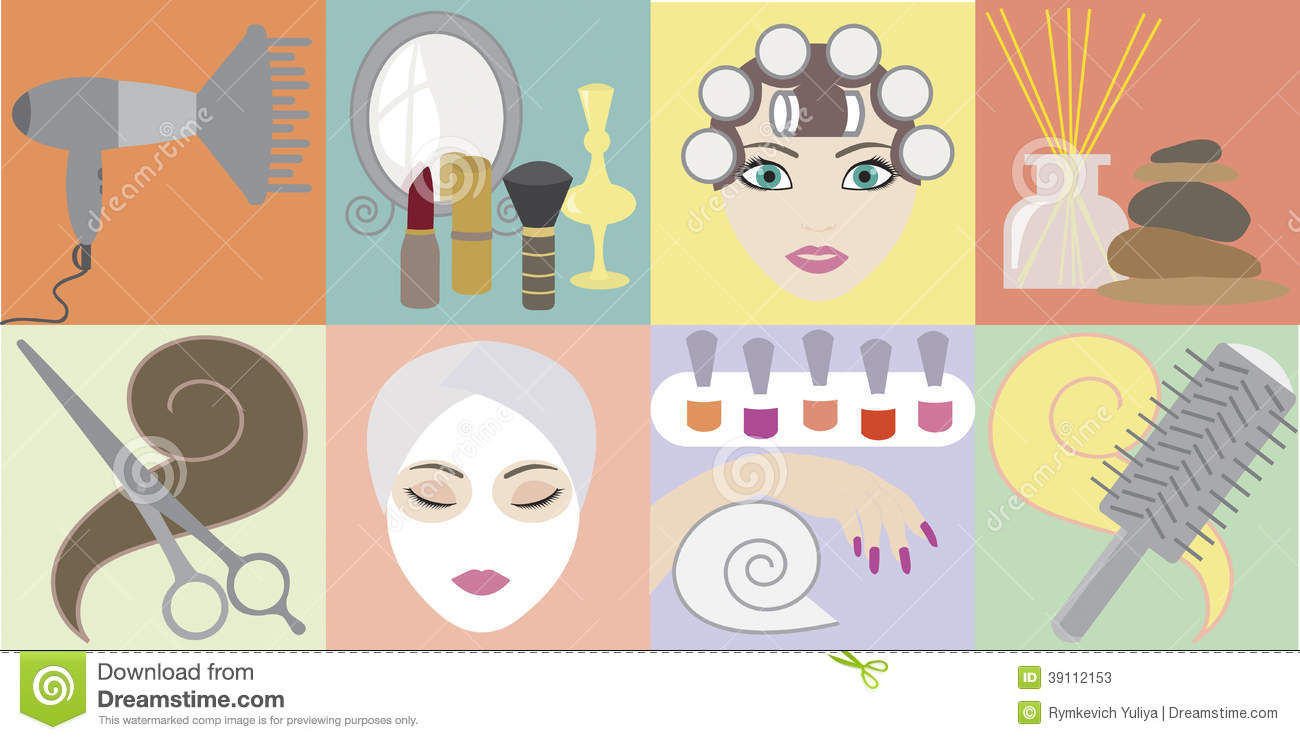 Beauty salon stock vector illustration of haircutting for Accessories for beauty salon