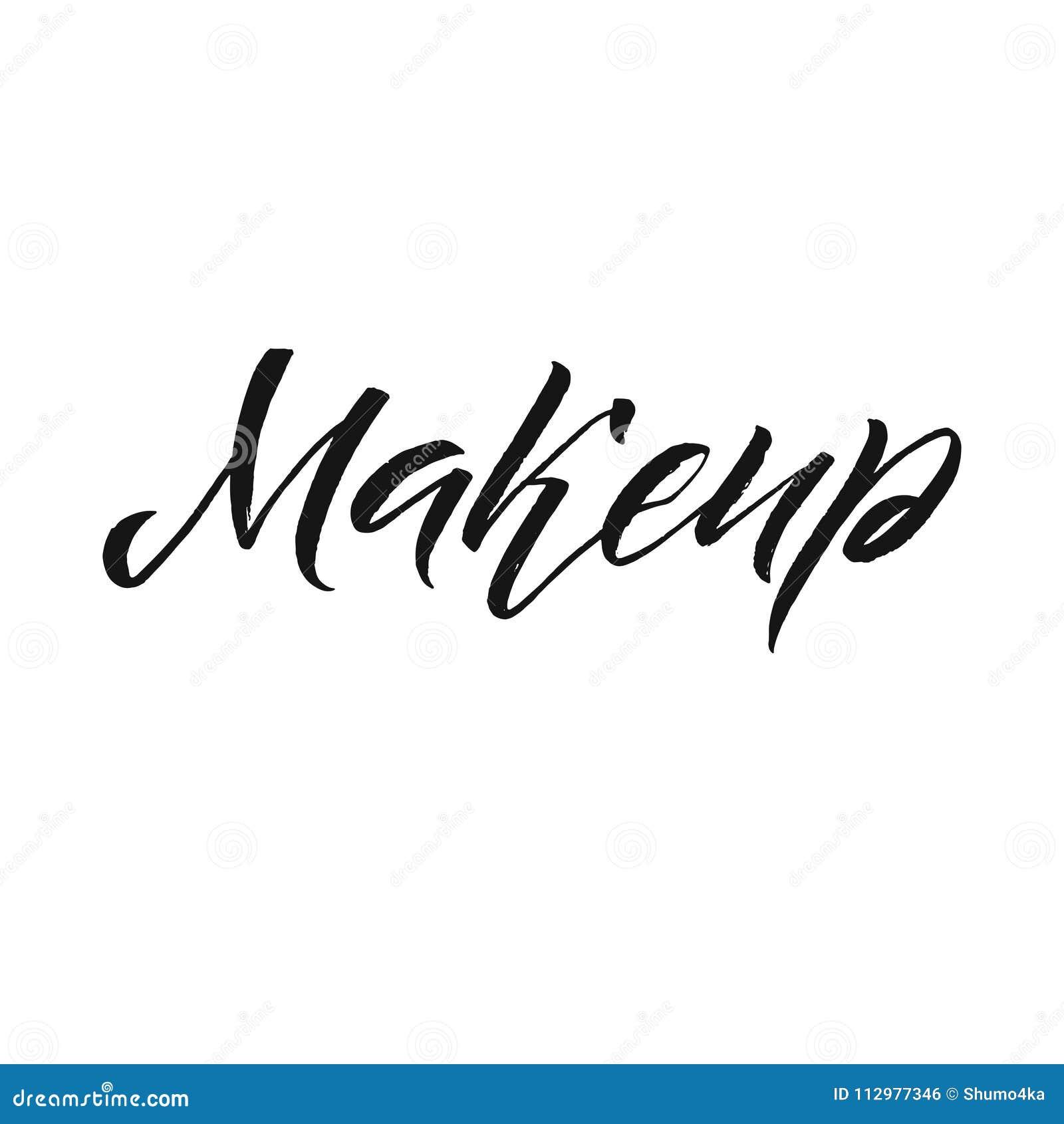 Beauty Salon Badge. Makeup Brushes. Make Up Artist badge Vector Illustration