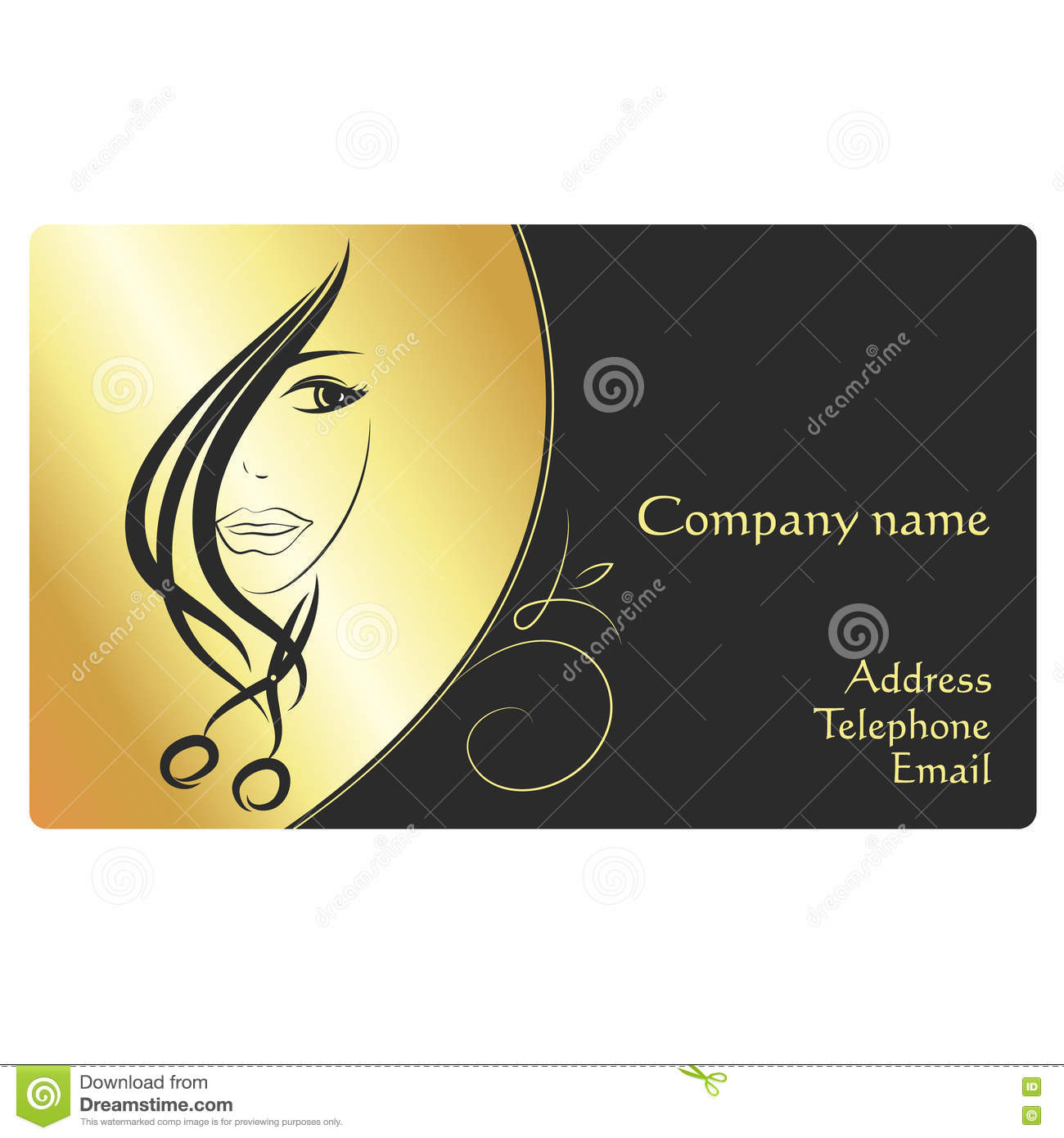 Beauty salon business card stock vector. Illustration of beautiful ...