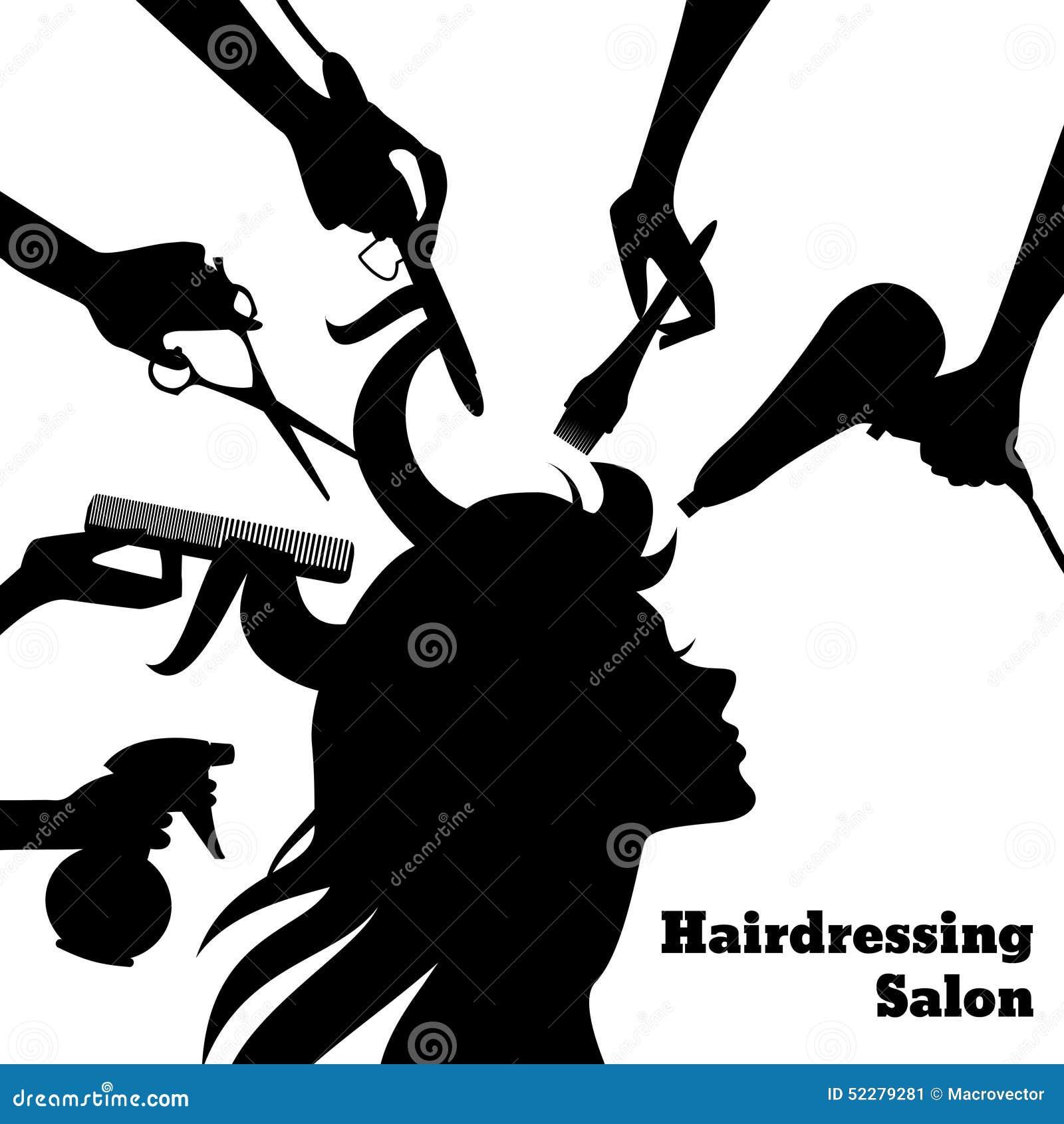 Beauty salon concept stock vector illustration of girl for Accessoires de salon