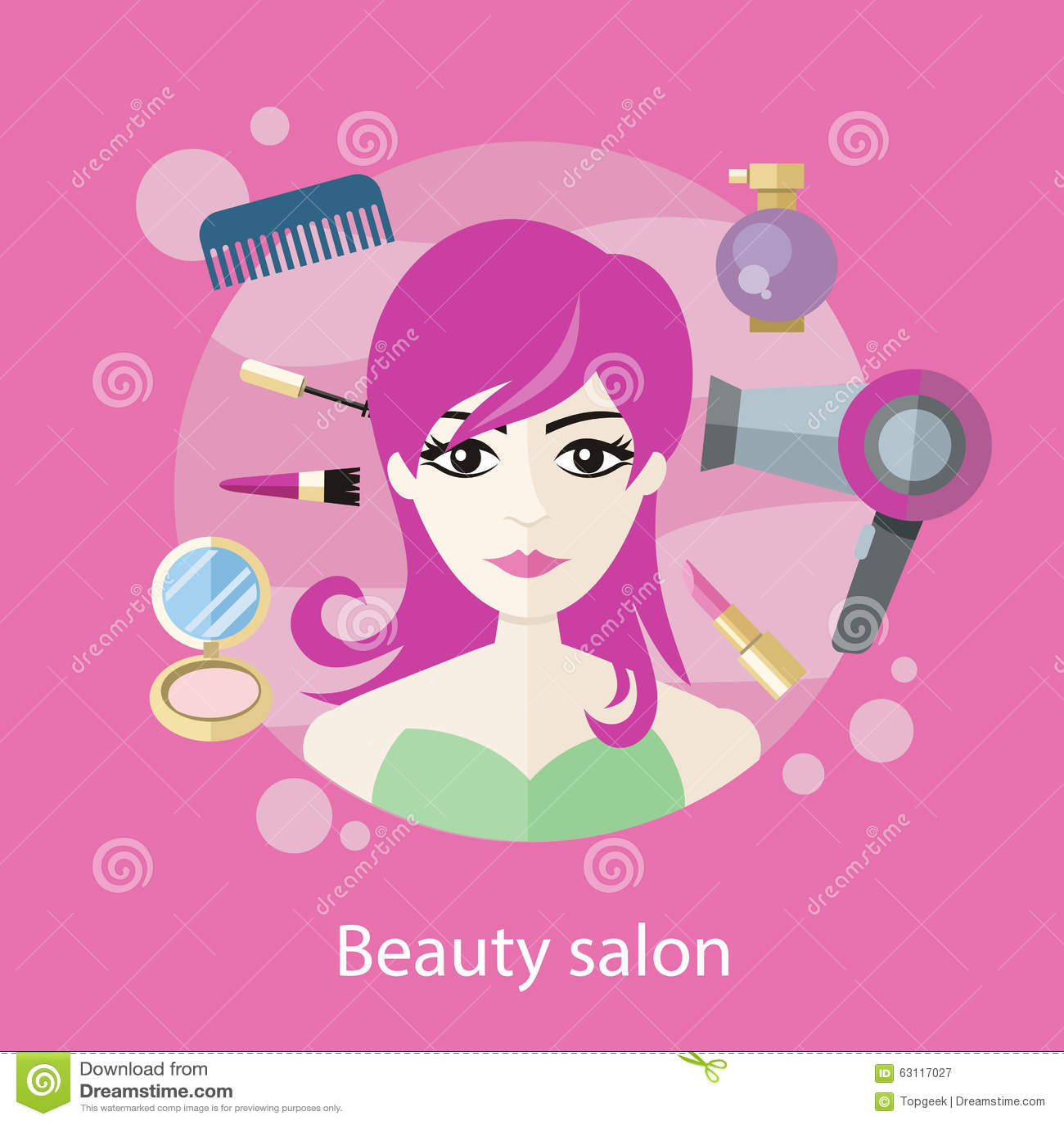 Beauty Salon Concept Flat Style Design Stock Vector