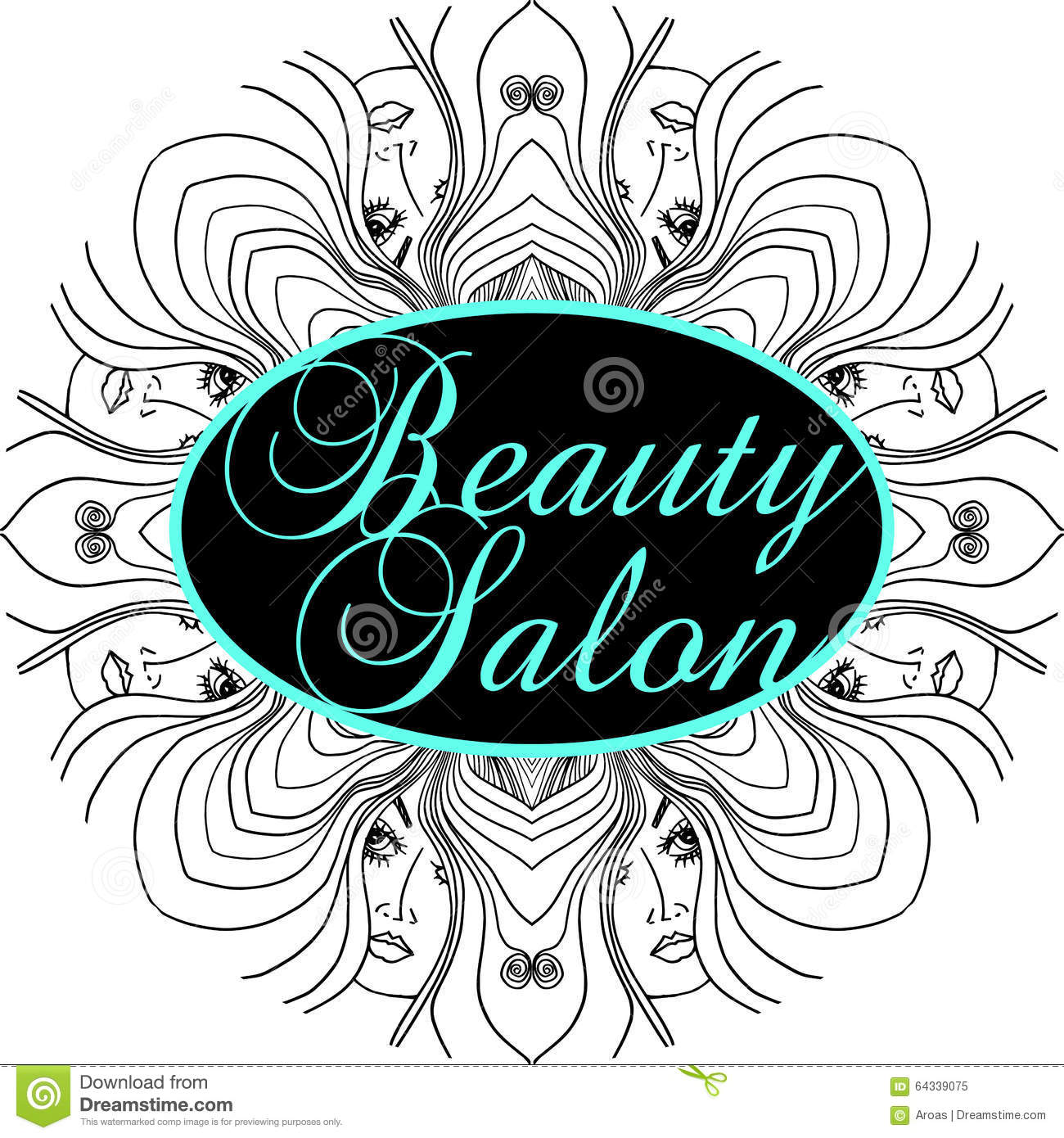Beauty salon cover with abstract beautiful woman face for Abstract salon of the arts