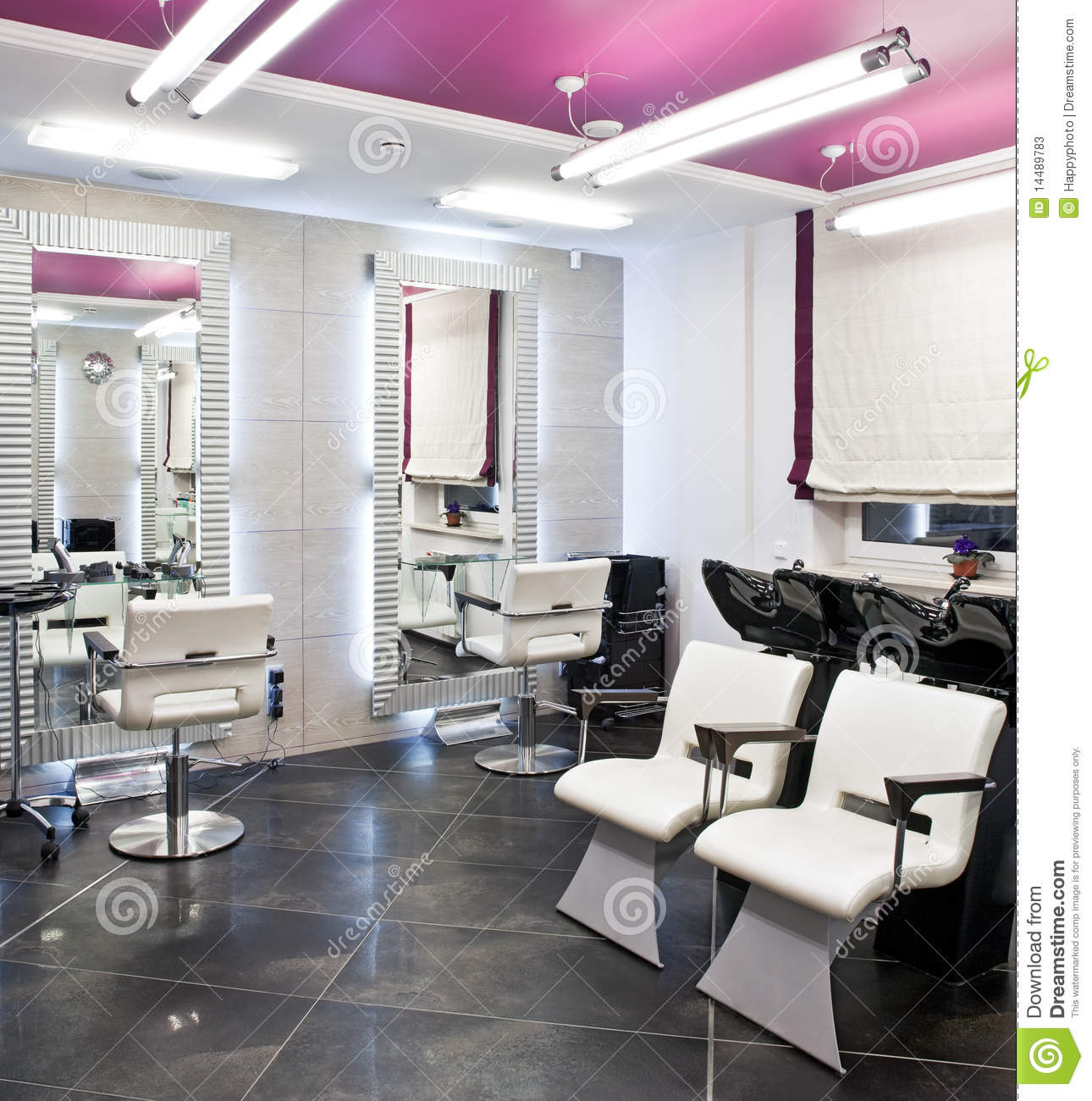Beauty salon interior stock photos image 14489783 for A little luxury beauty salon
