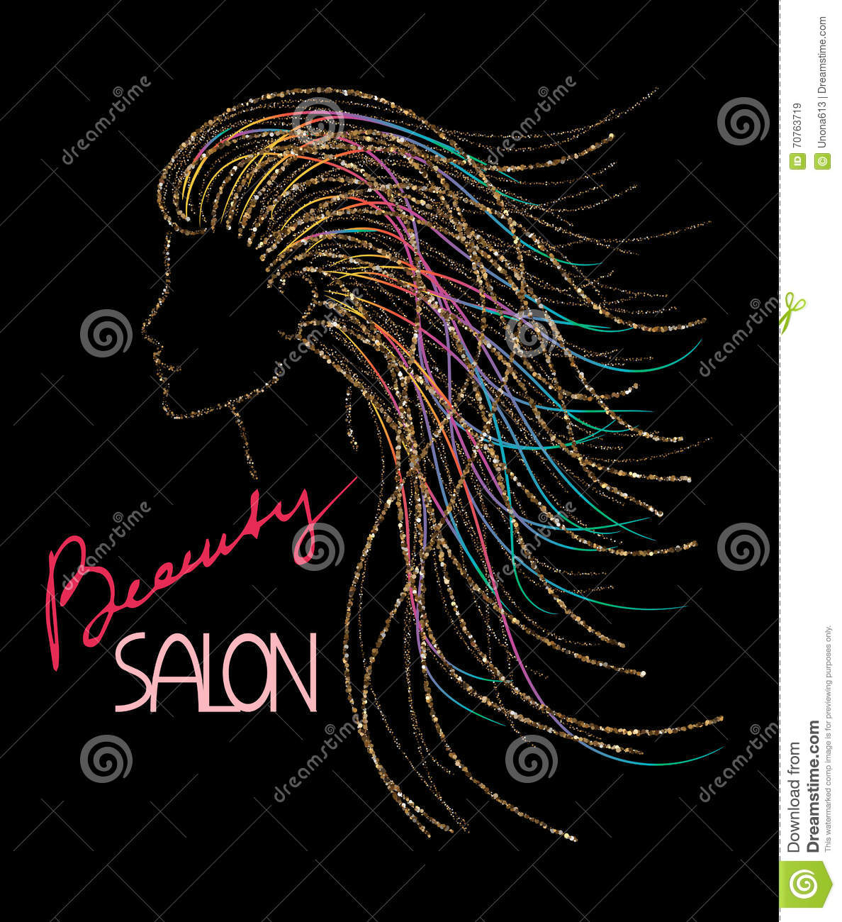 Salon concept logo vector illustration for Abstract beauty salon