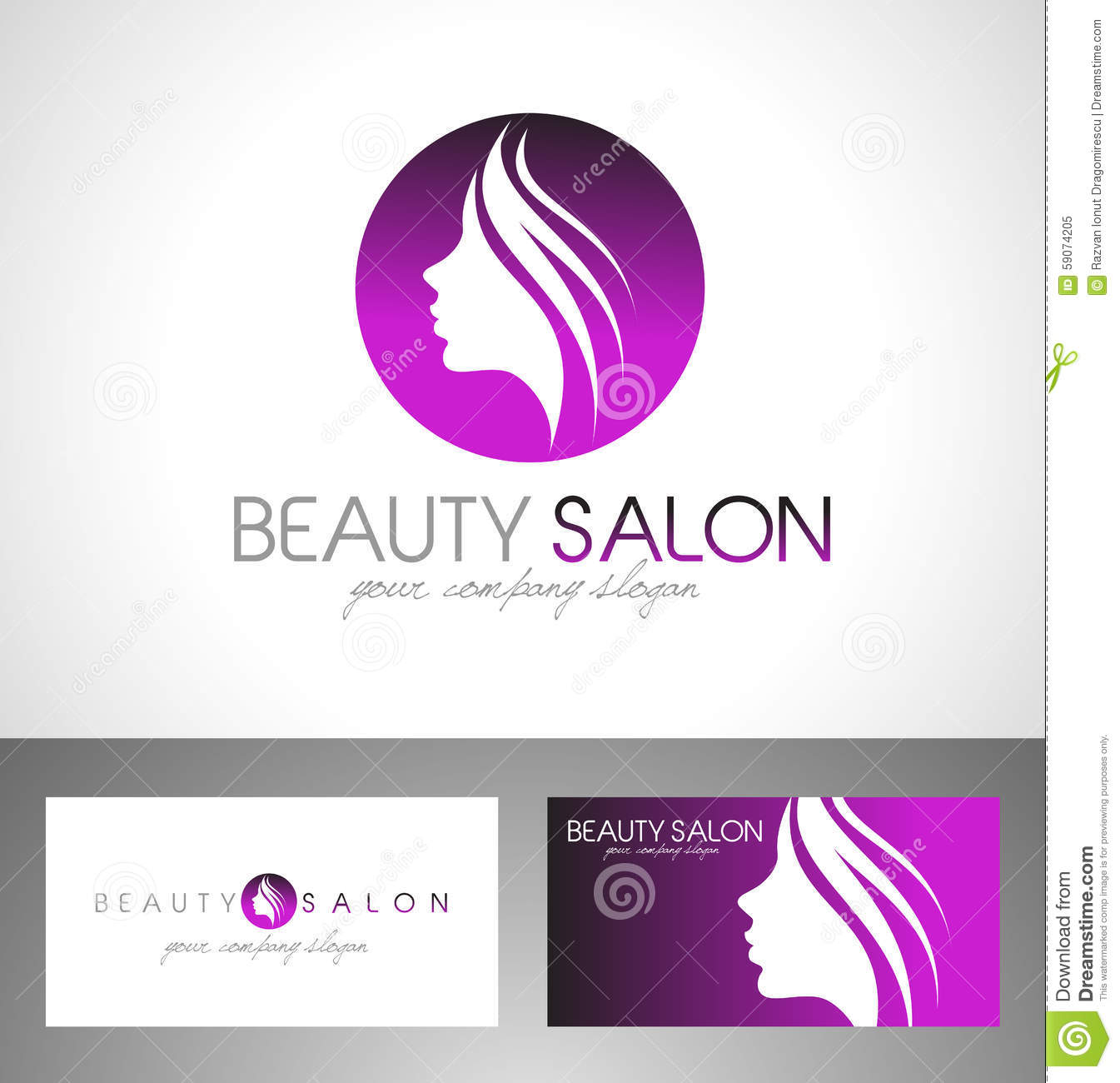 Logos with cc joy studio design gallery best design - Beauty Cosmetic Creative Design Face Hair Logo