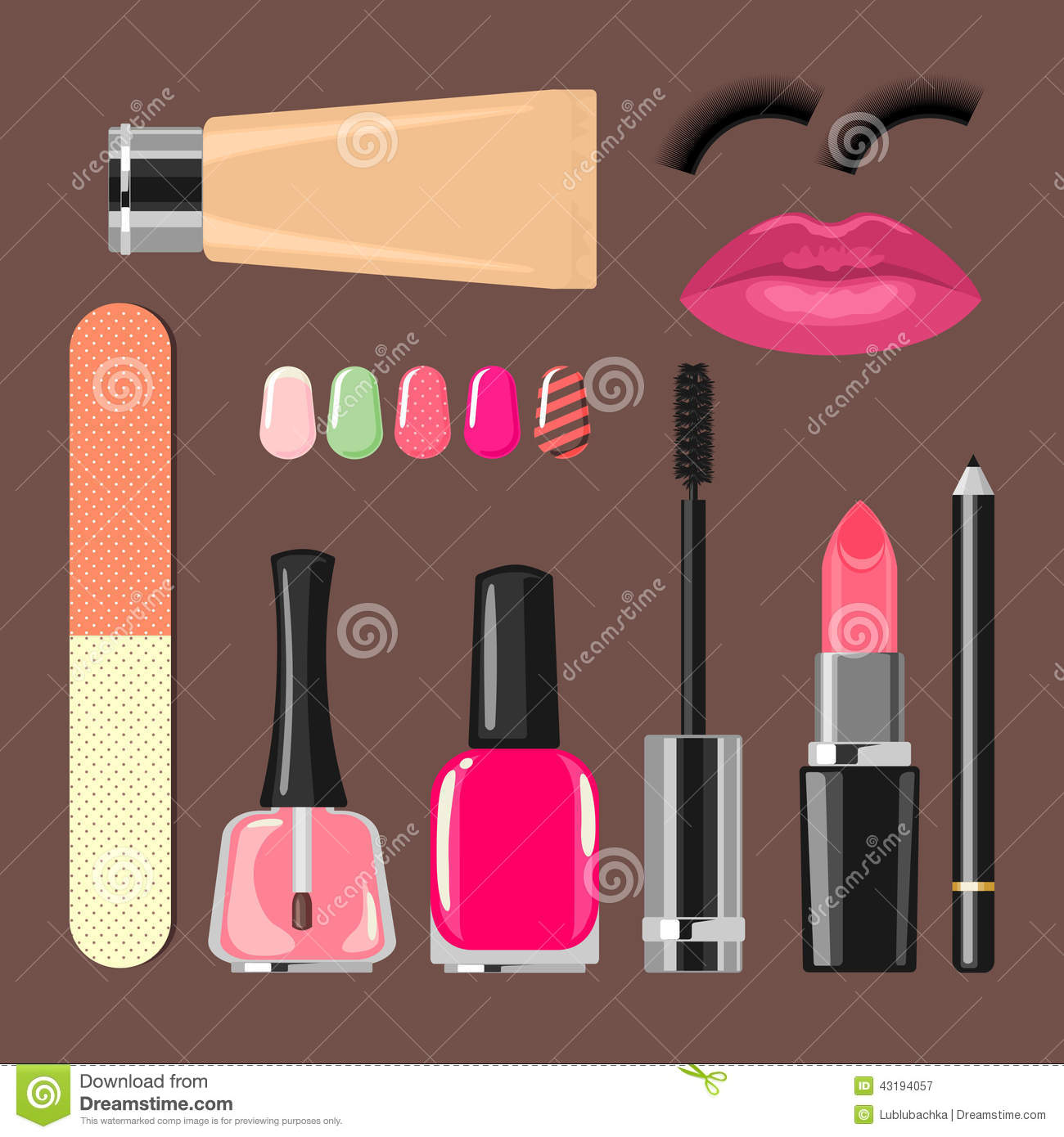 Beauty salon manicure salon cosmetics and accesso stock for Accessories for beauty salon