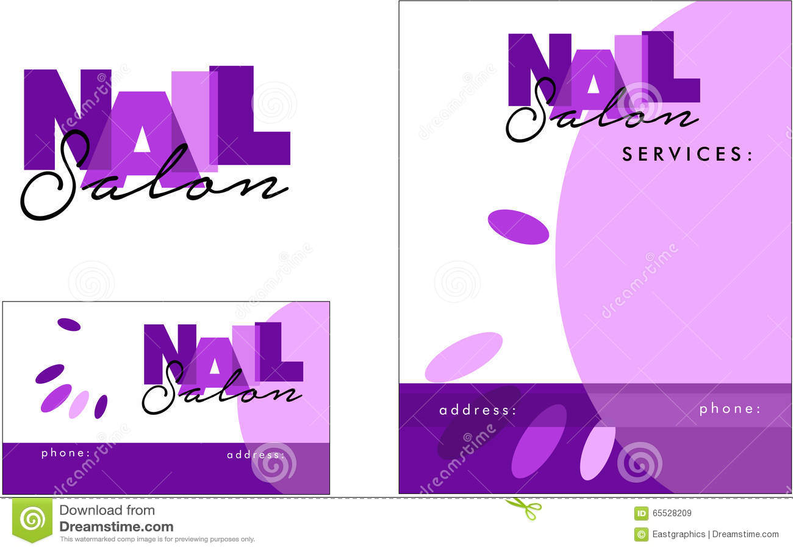 Beauty Salon Modern Logo, Business Card, Flyer Illustration 65528209 ...