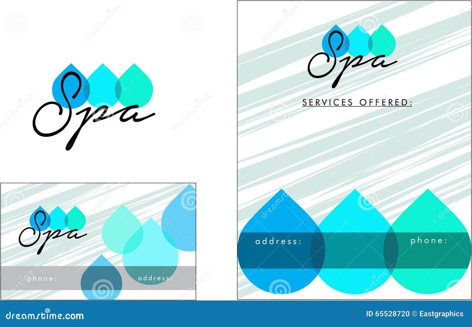 Beauty Salon Modern Logo, Business Card, Flyer Stock Vector ...