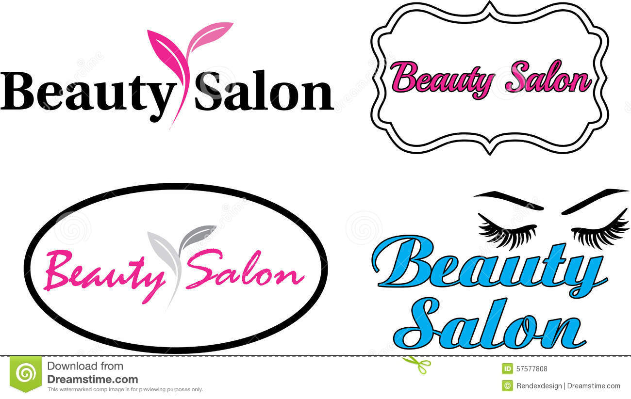 beauty salon modern logo stock vector