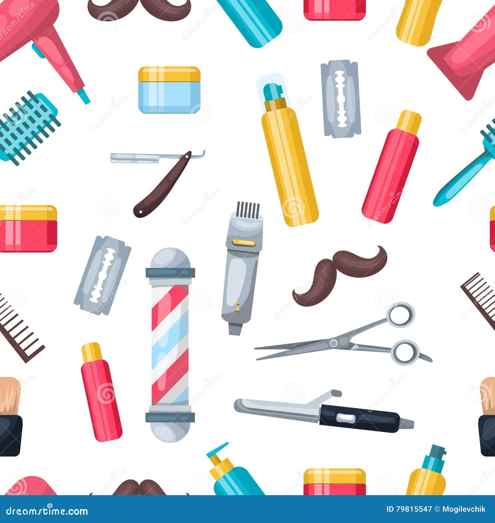 Beauty Salon Pattern Stock Vector Illustration Of Hairbrush 79815547