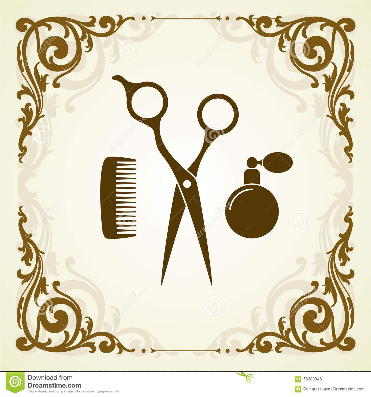 Beauty salon symbol with scissor stock vector illustration of beauty salon symbol with scissor biocorpaavc