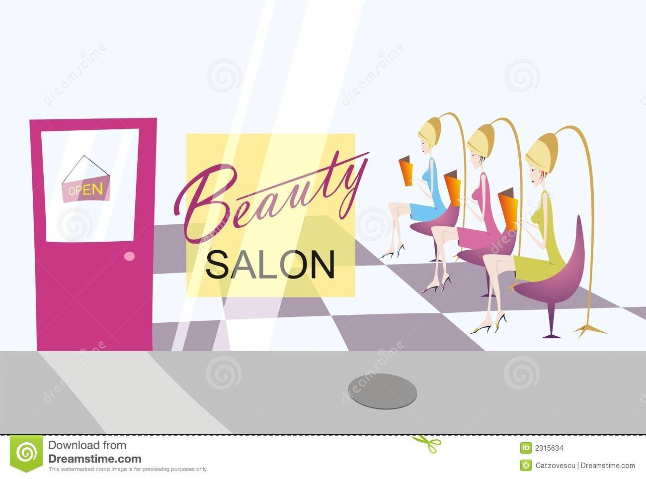 beauty shop clip art free - photo #28
