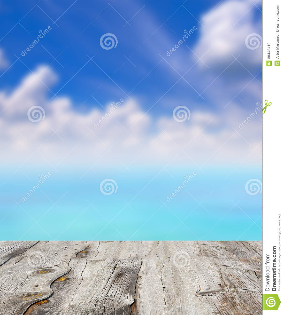 Beauty Seascape Under Blue Clouds Sky. Stock Photo - Image: 38443410