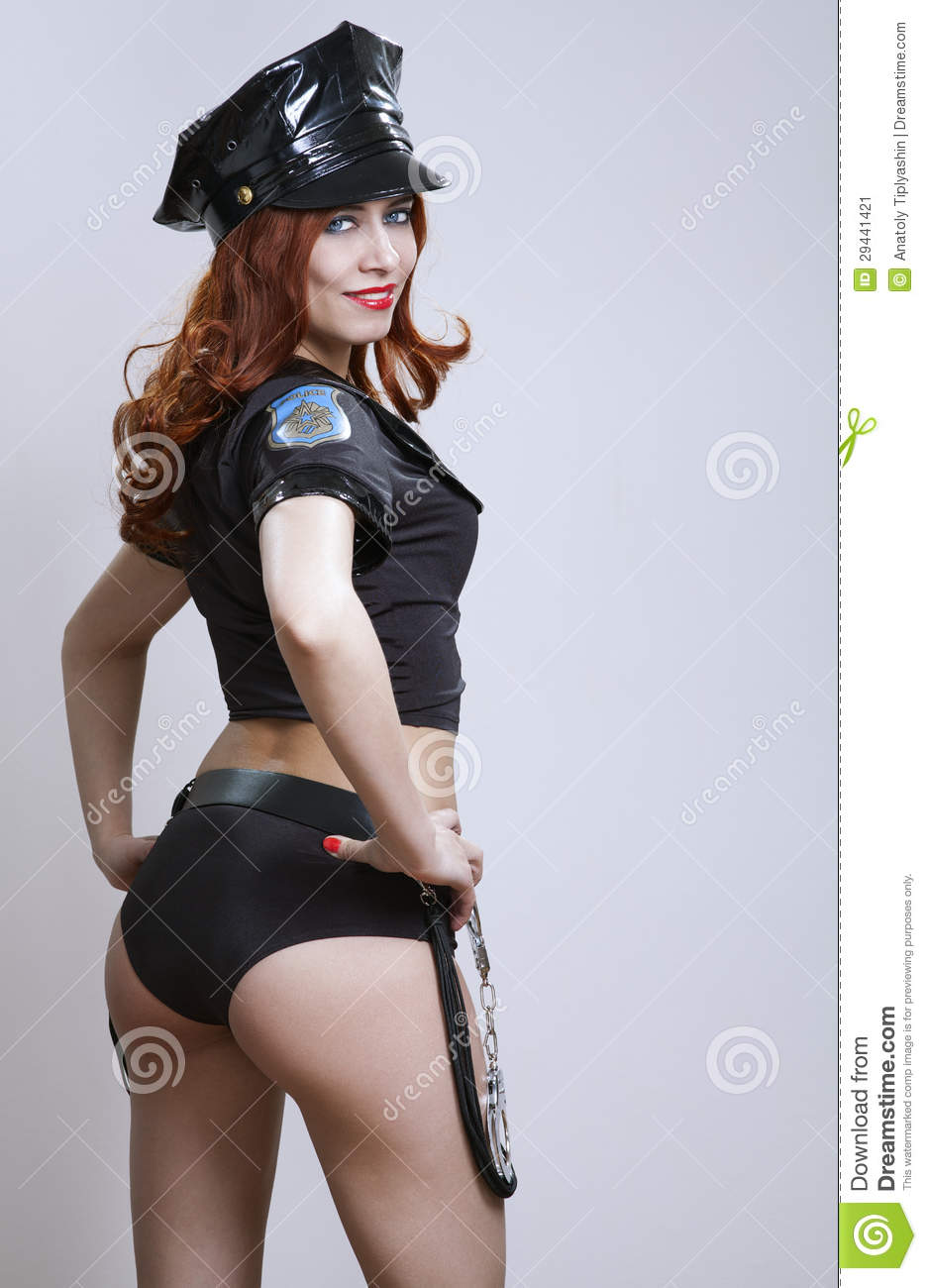 Police babe hot woman interracial suspect