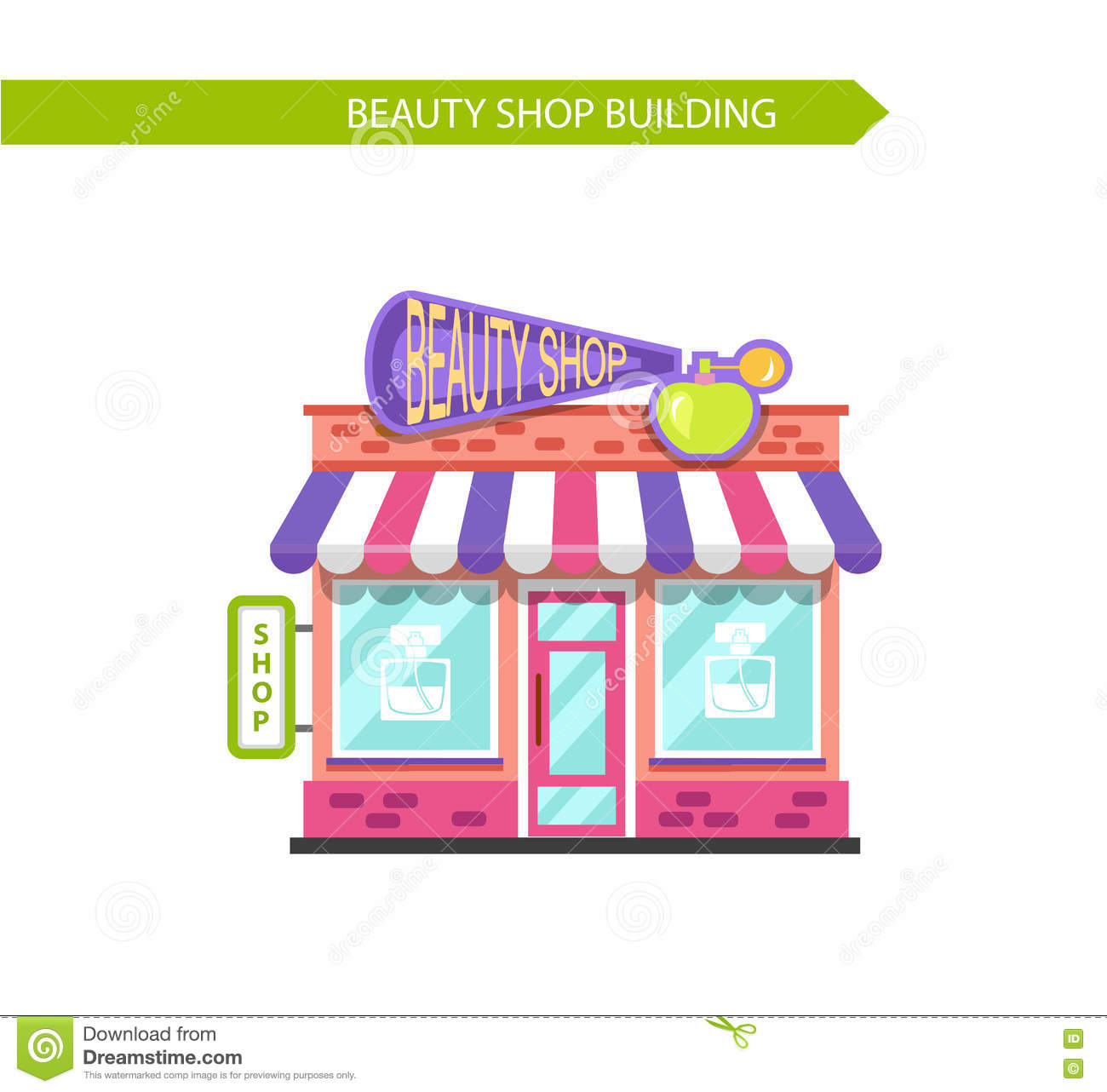 Beauty Shop Building Stock Vector Image Of Case Perfume