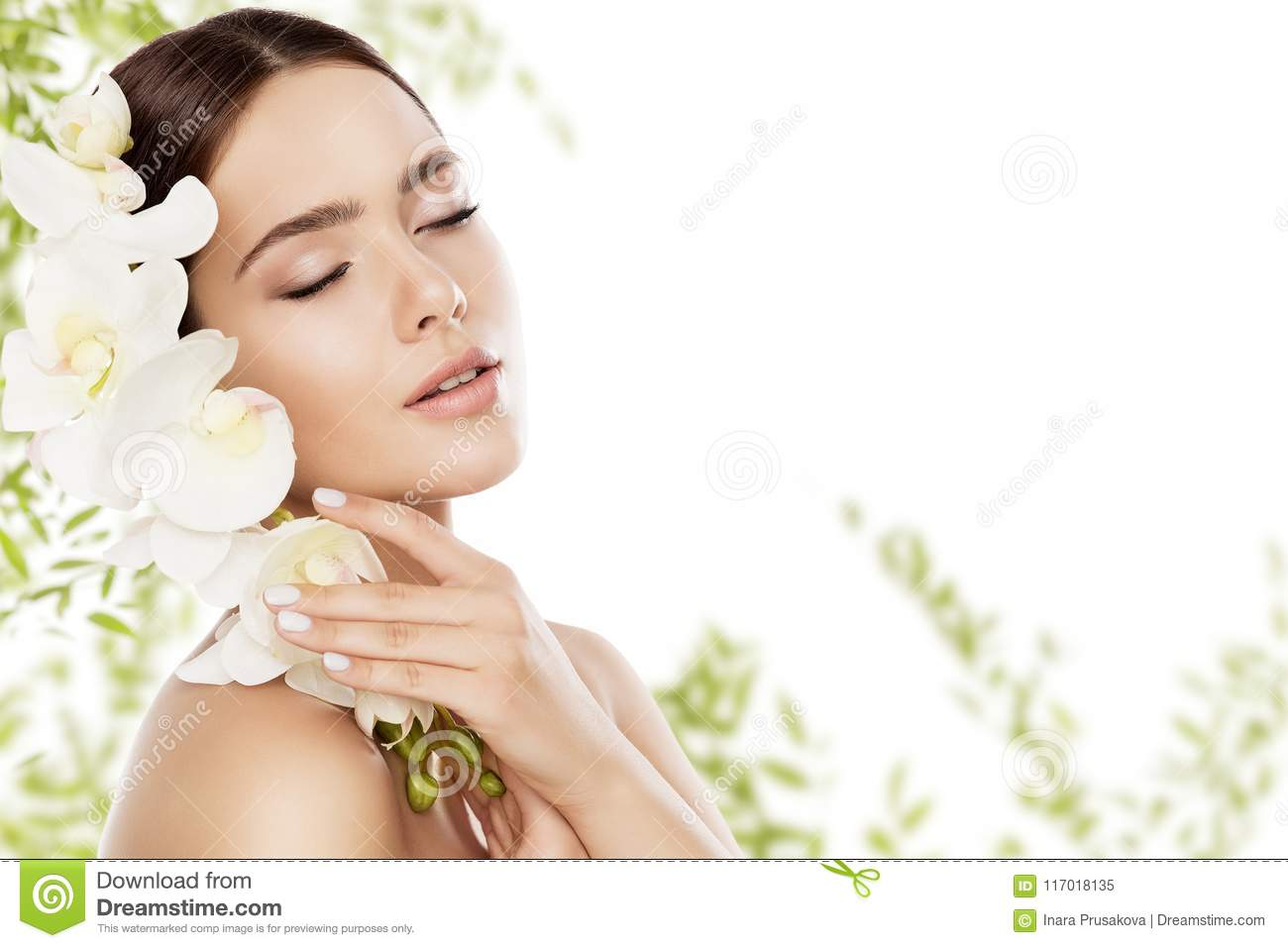 Beauty Skin Care and Face Makeup, Woman Skincare Natural Make Up