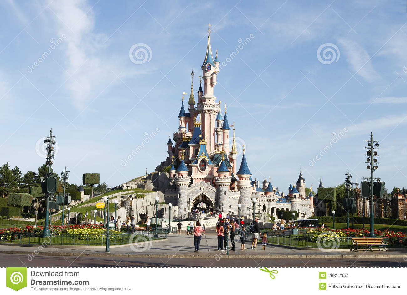 Beauty Sleeping Castle In Eurodisney Editorial Stock Image - Image ...