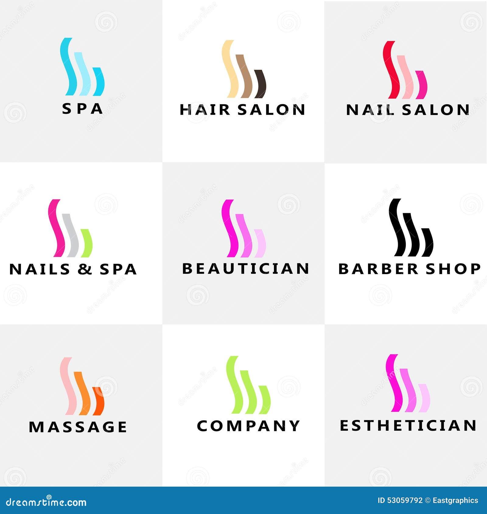 Beauty Spa Nails Hair modern logo