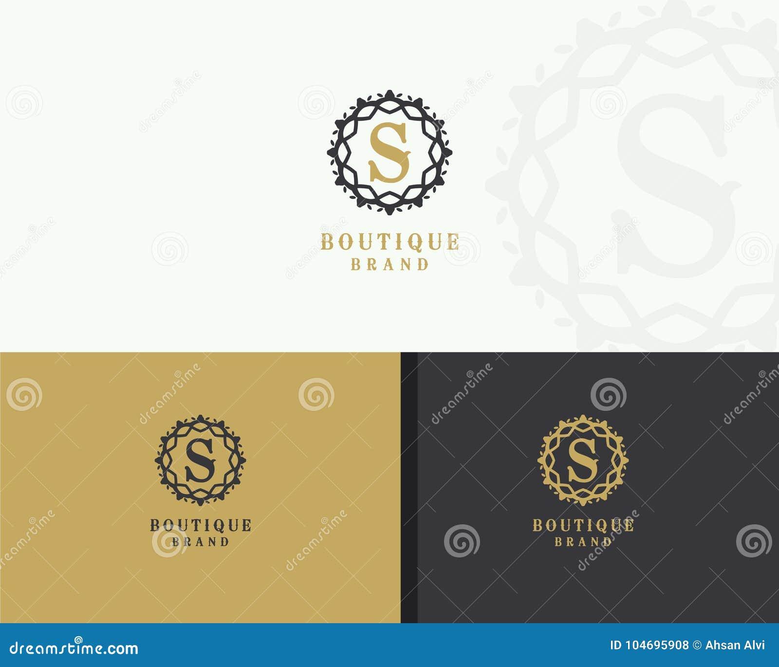 Elegant Ornamental Logo With The Letter S