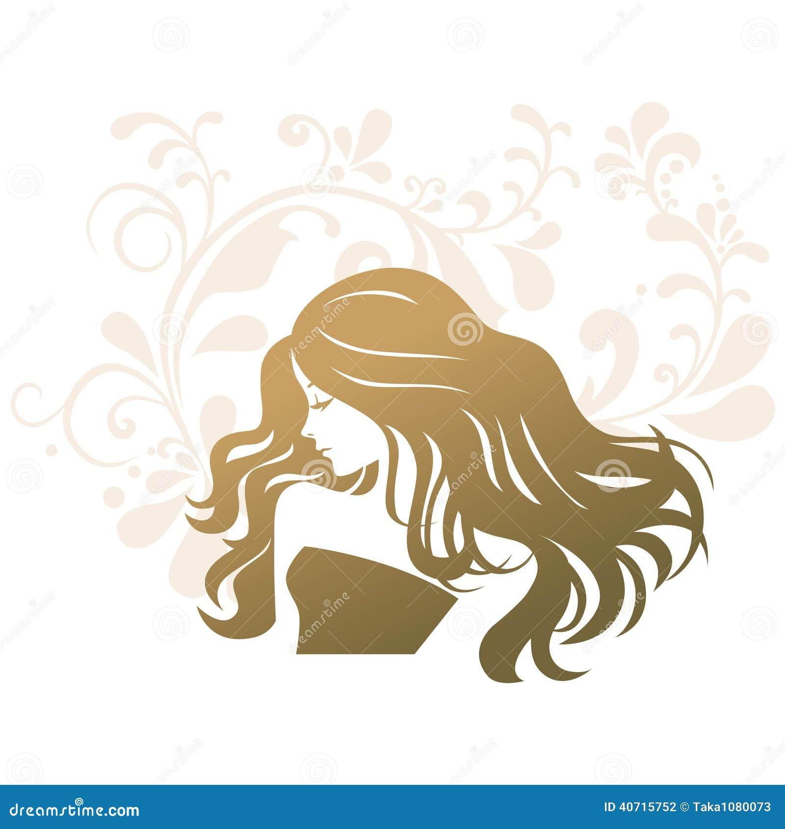 Beauty Treatment Salon Silhouette Woman Stock Vector