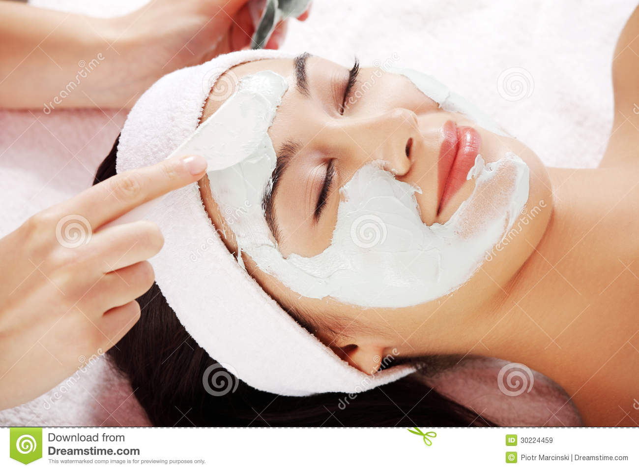Beauty treatment in spa salon royalty free stock images for A trial beauty treatment salon