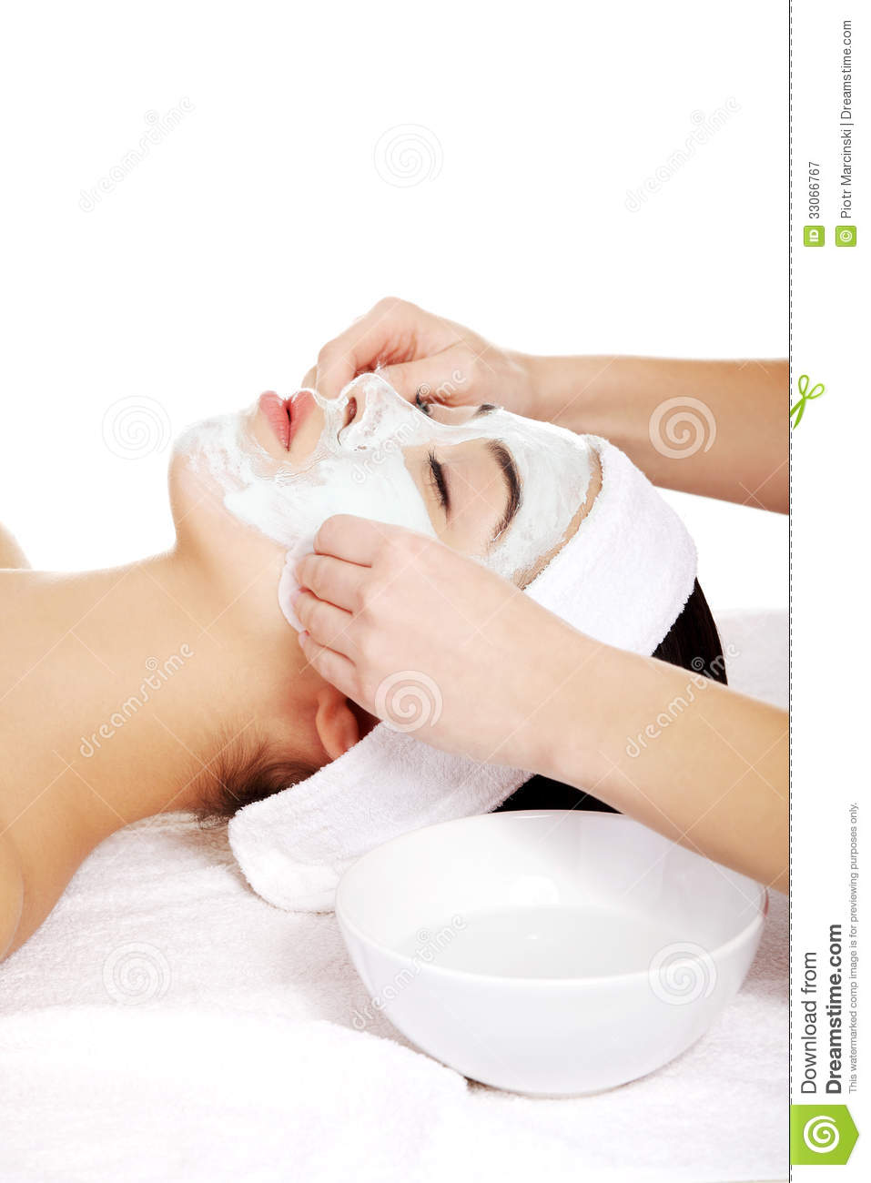 Beauty treatment in spa salon royalty free stock for A trial beauty treatment salon