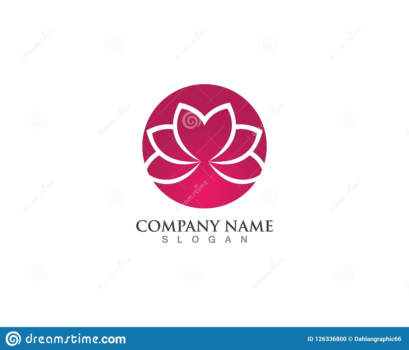 Beauty Vector And Logo Lotus Flower Sign For Wellness, Spa