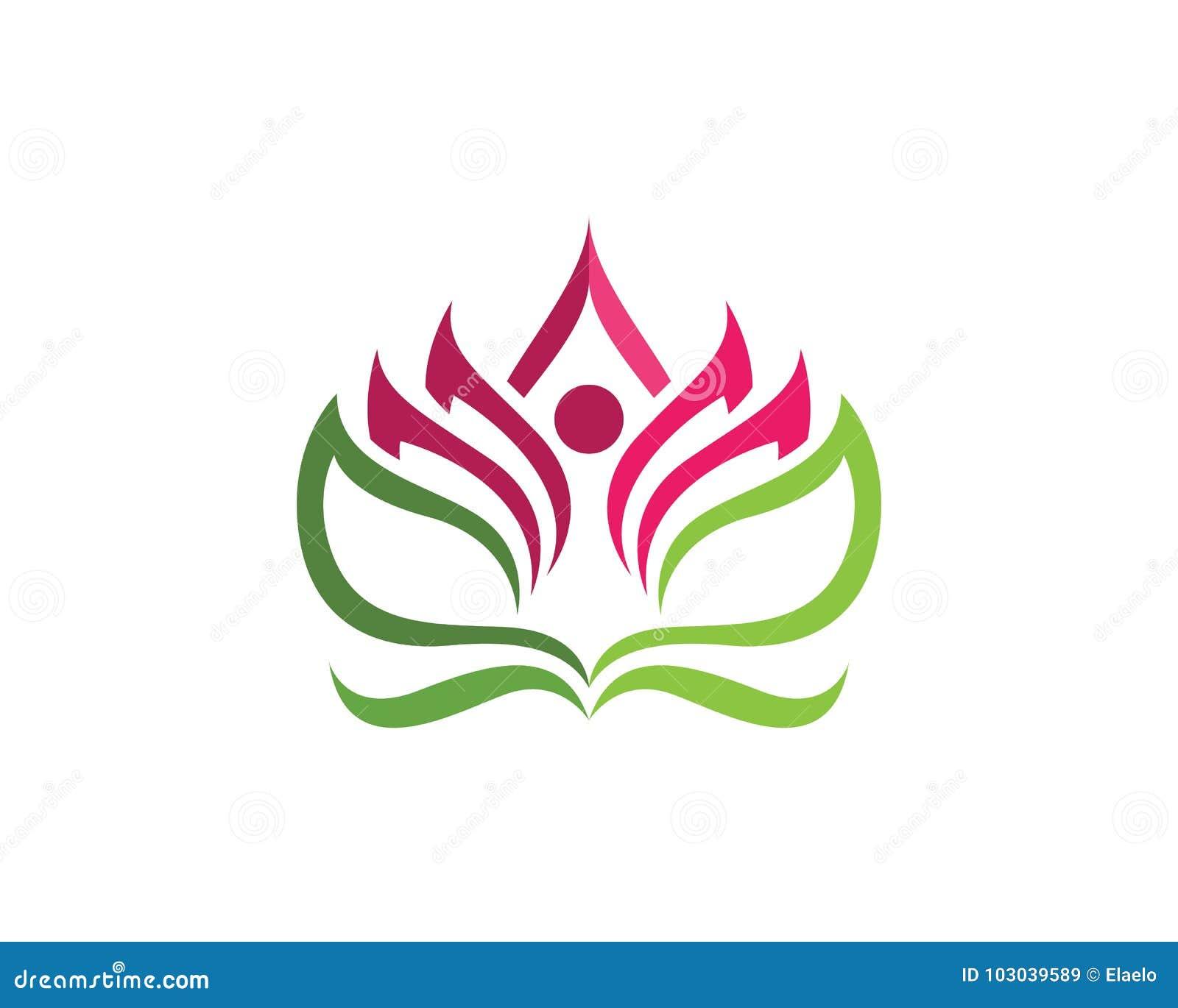 beauty lotus logo template stock illustration illustration of