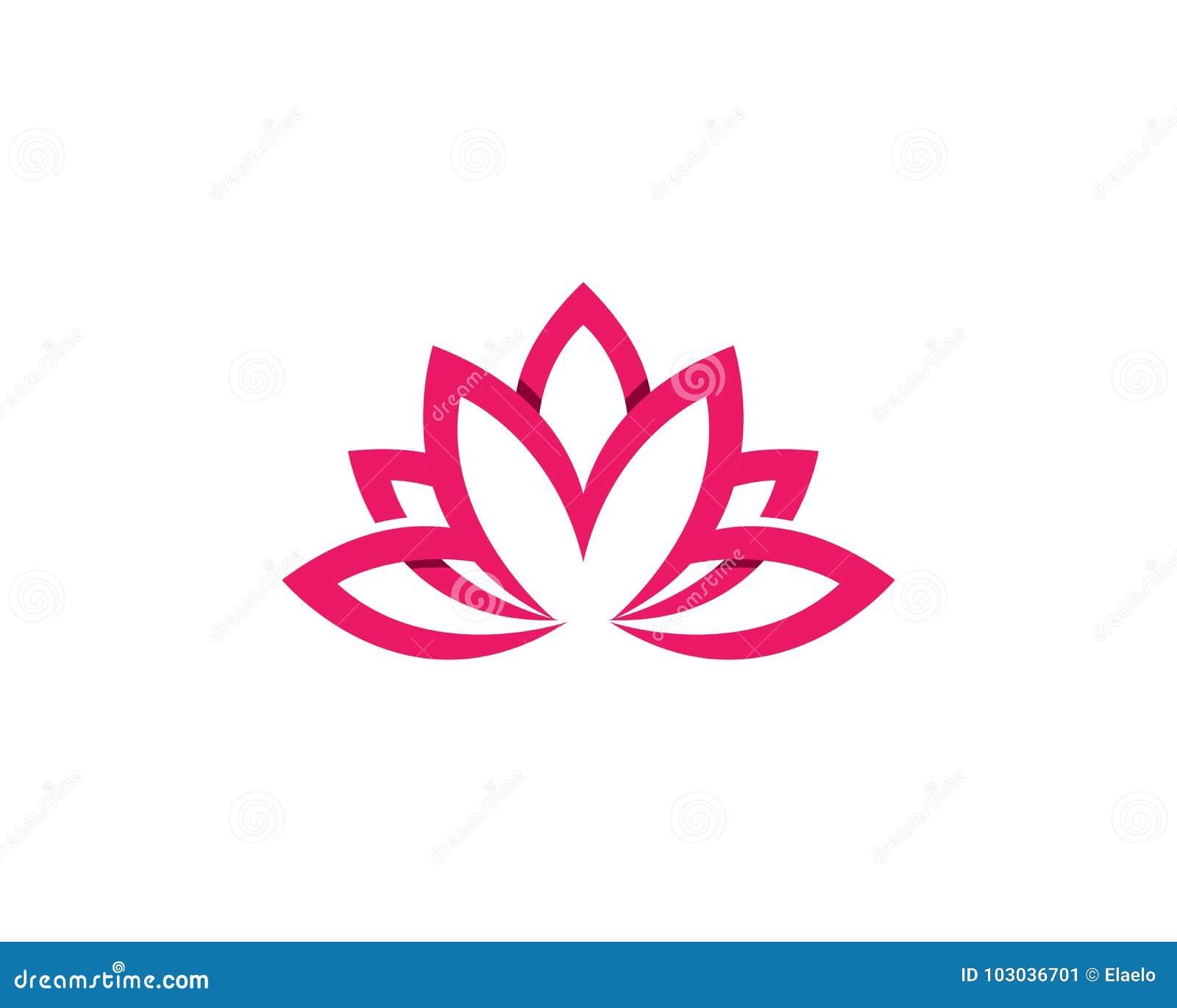 beauty lotus logo template stock illustration illustration of sushi