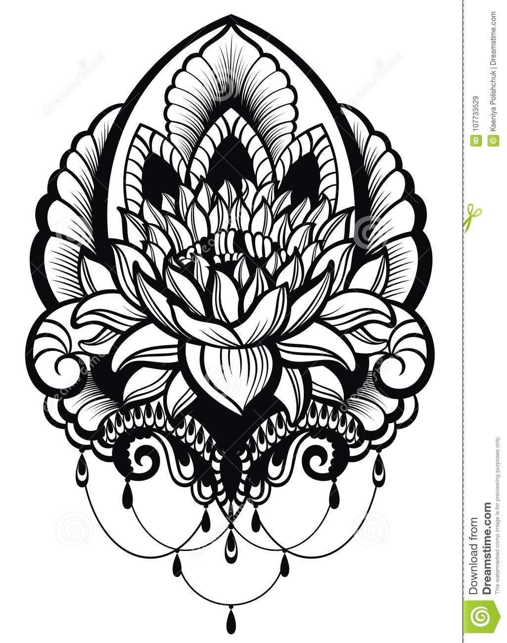 Oriental style flower lotus stock vector illustration of royalty free stock photo izmirmasajfo